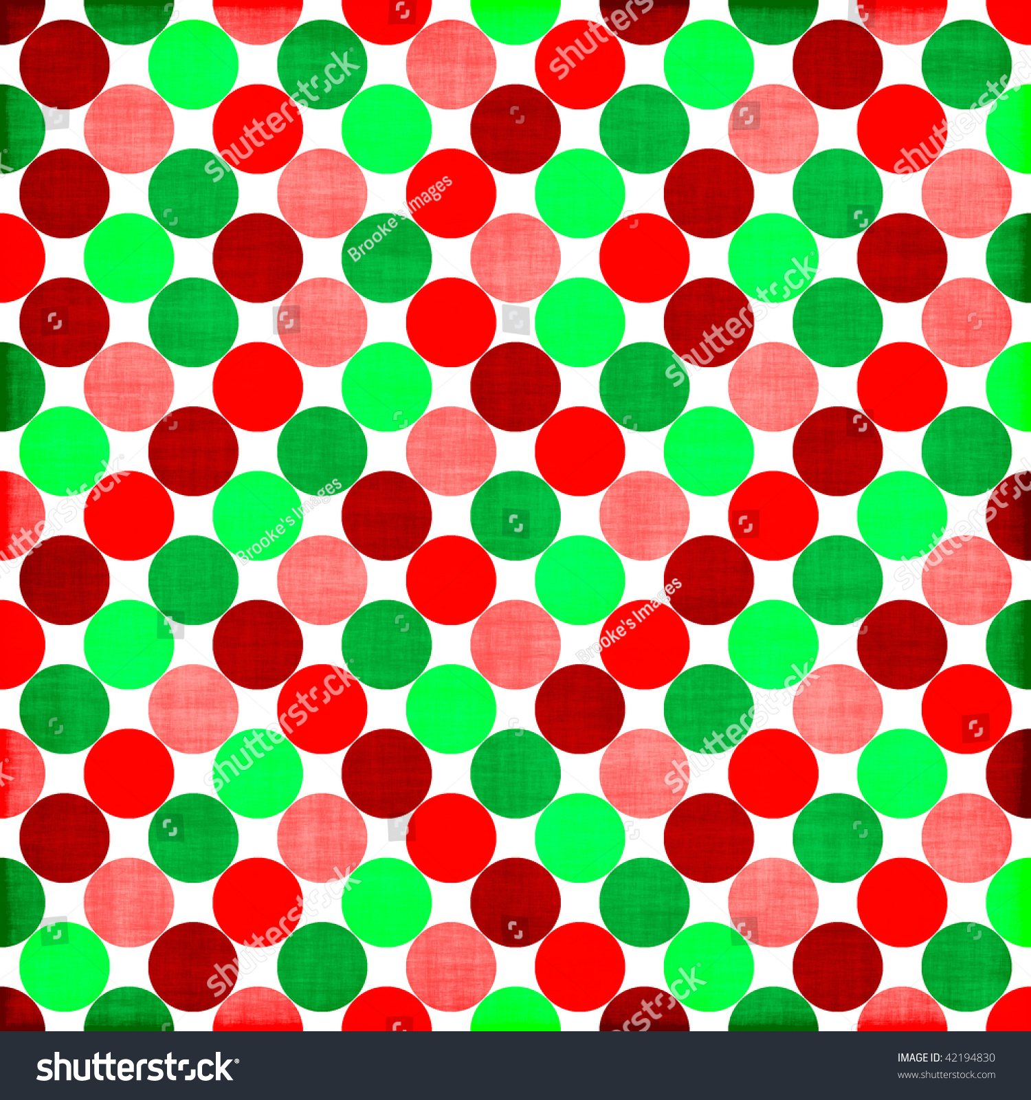 Colorful Big Polka Dot Background Stock Photo 42194830