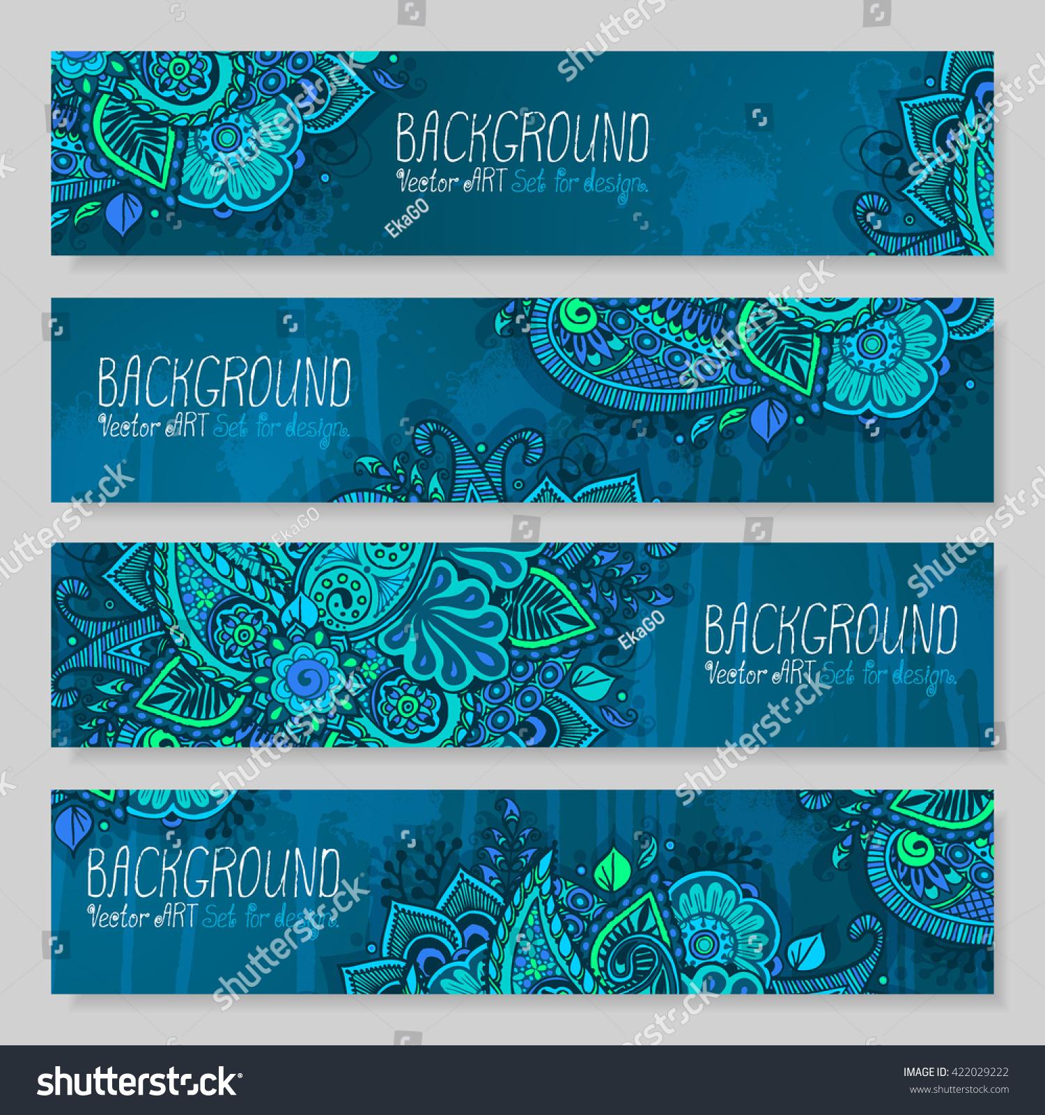 Mandala Backgrounds Set Design Vector Artwork Stock Vector (Royalty