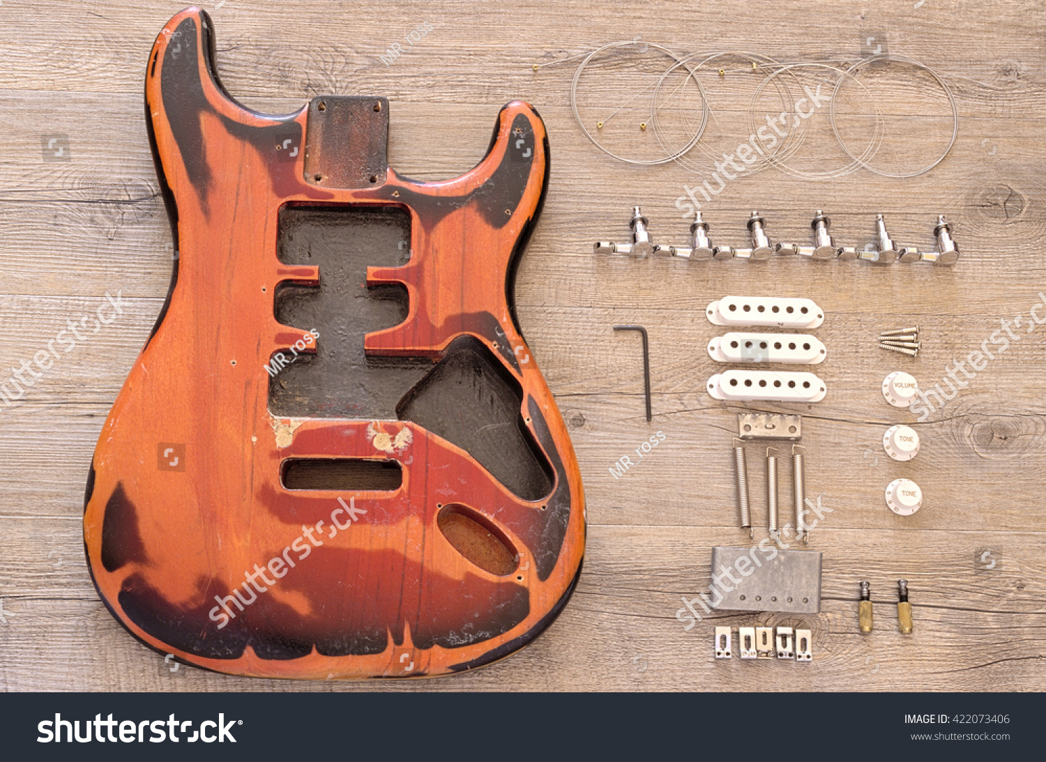 Vintage Electric Guitar Spare Parts Stock Photo Edit Now 422073406 Need To Know The Of