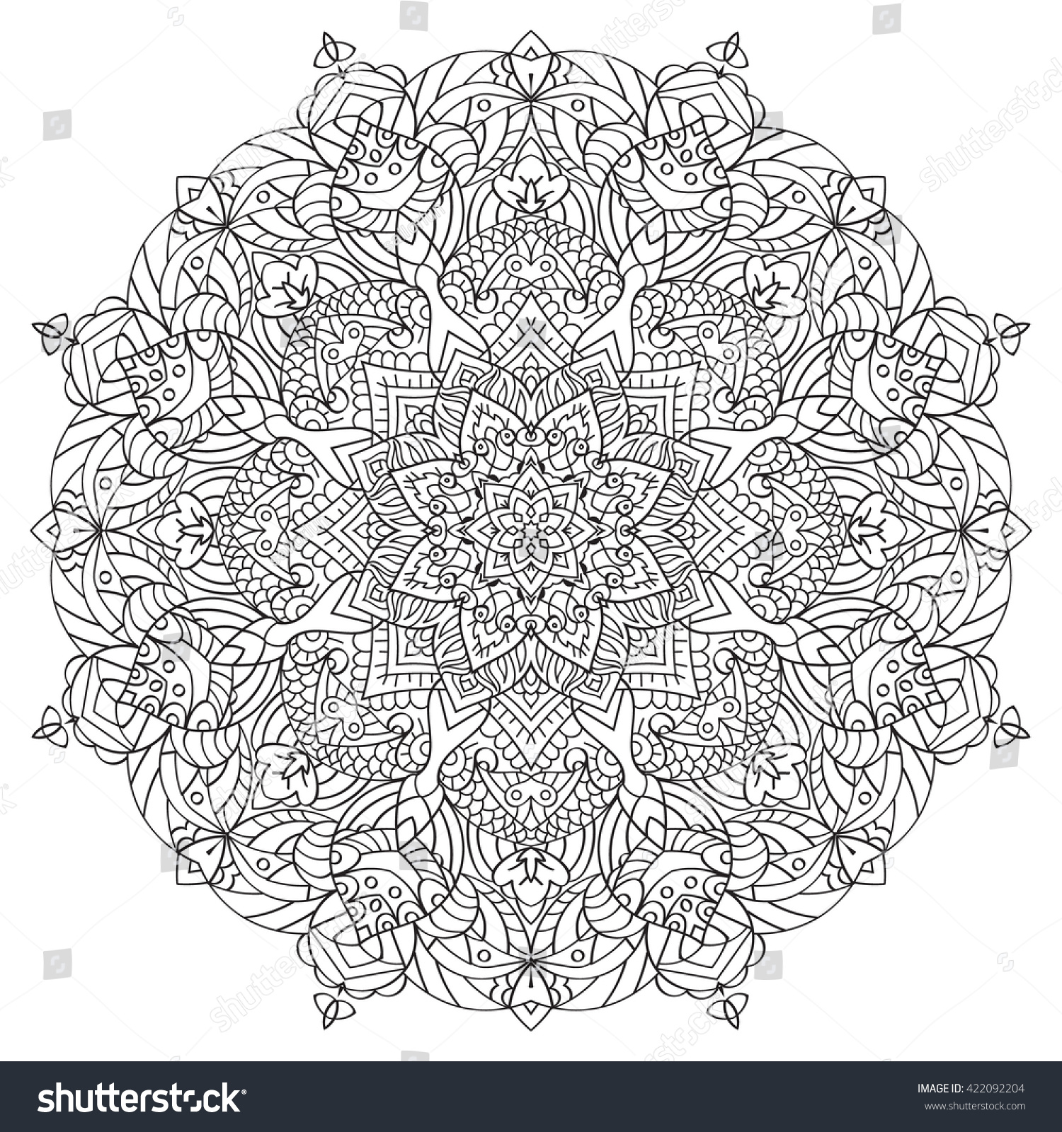 mandala coloring book for adult circular pattern - Mandala Coloring Books For Adults