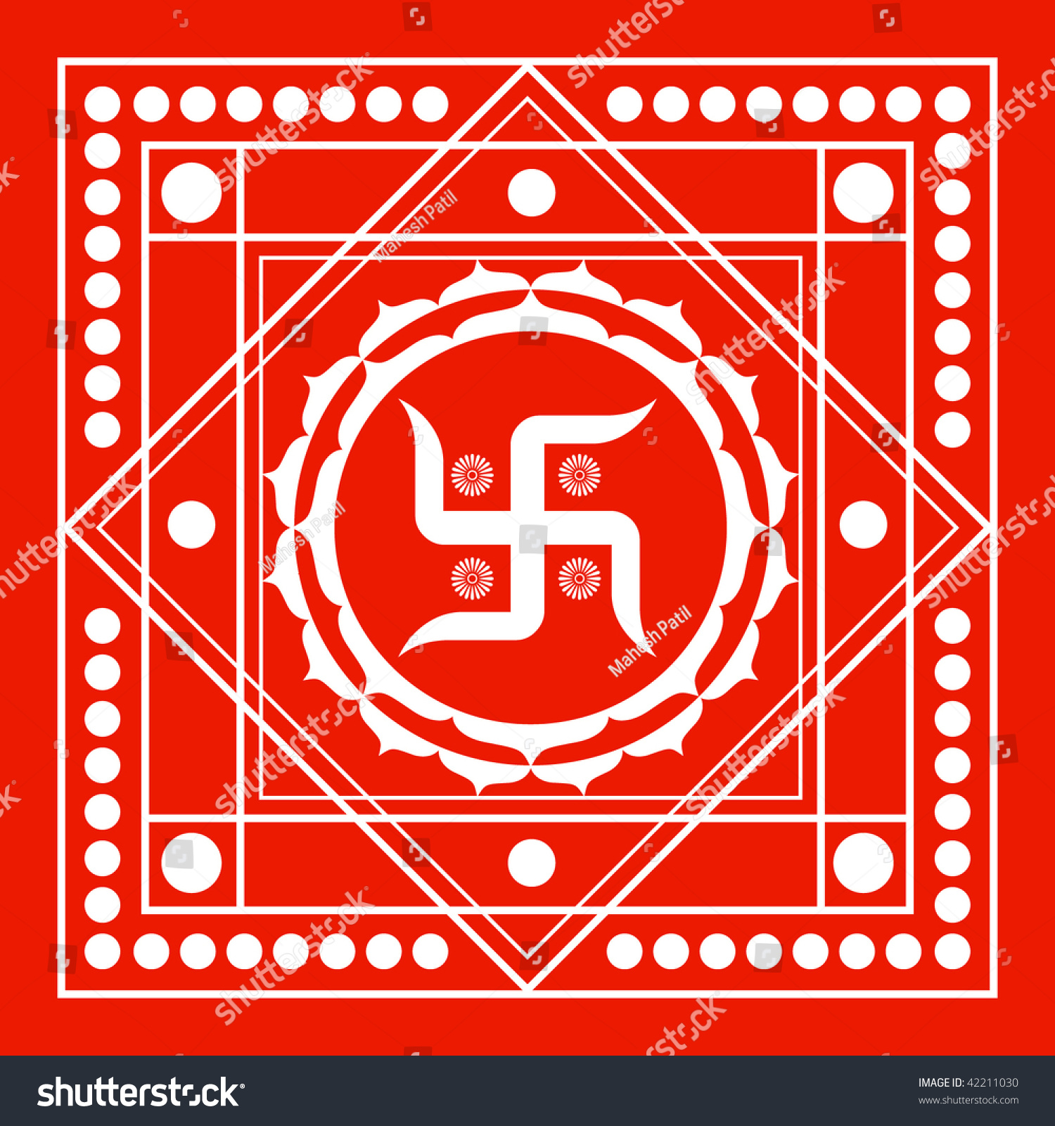 spiritual swastika background stock vector 42211030
