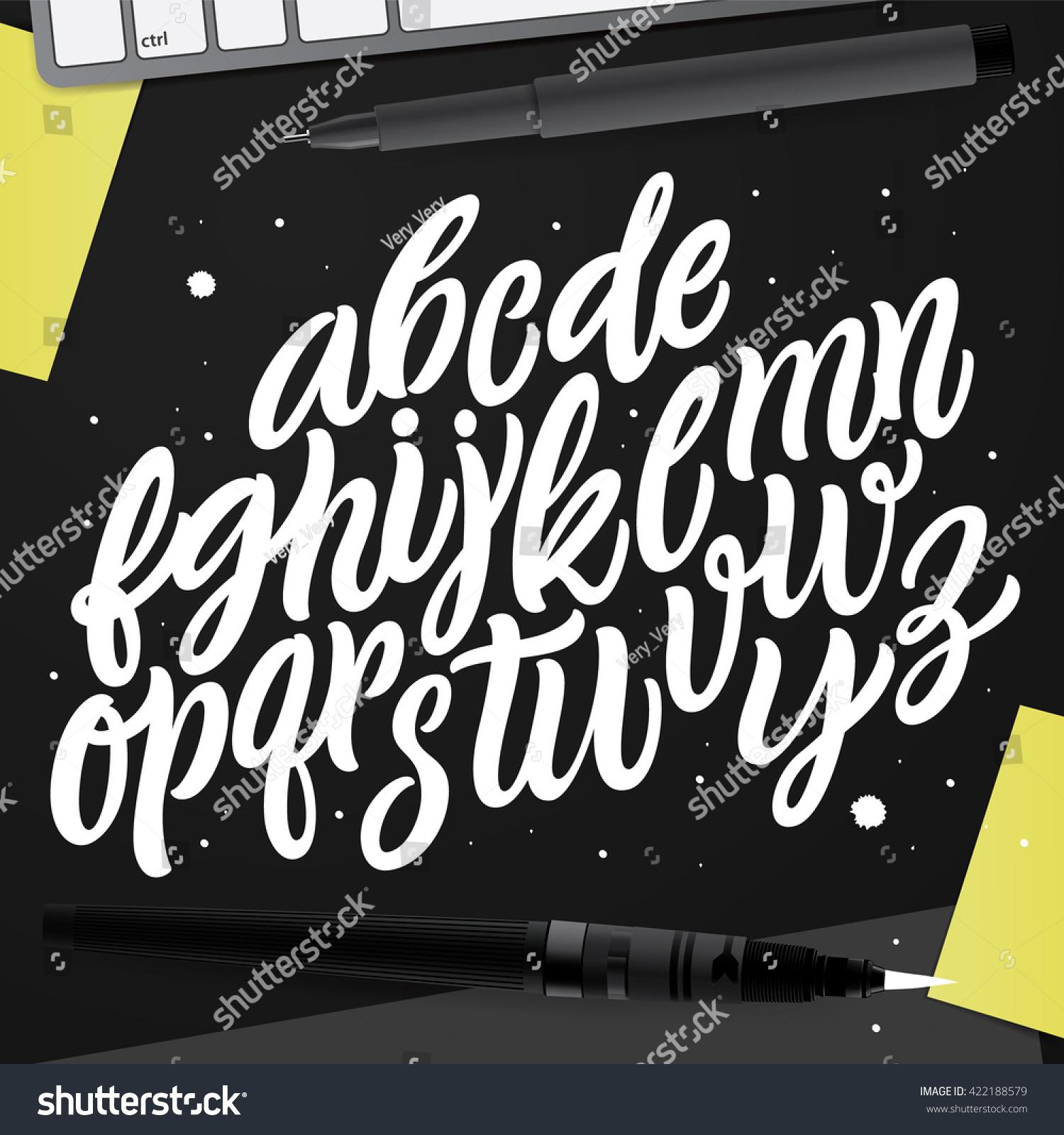 Decorative vector abc kit nice typography stock