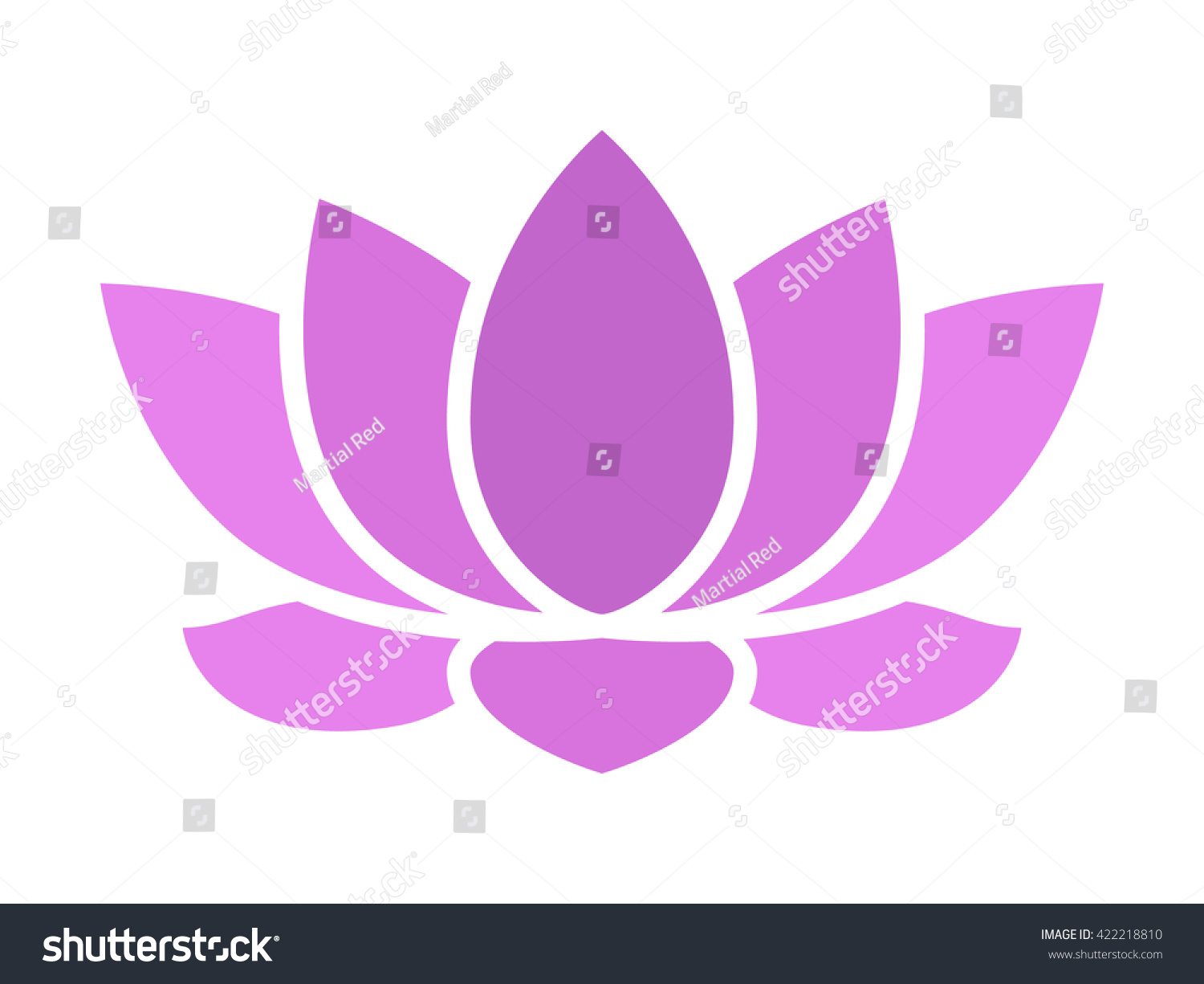 Purple lotus flower blossom flat icon stock vector 422218810 purple lotus flower blossom flat icon for apps and websites izmirmasajfo