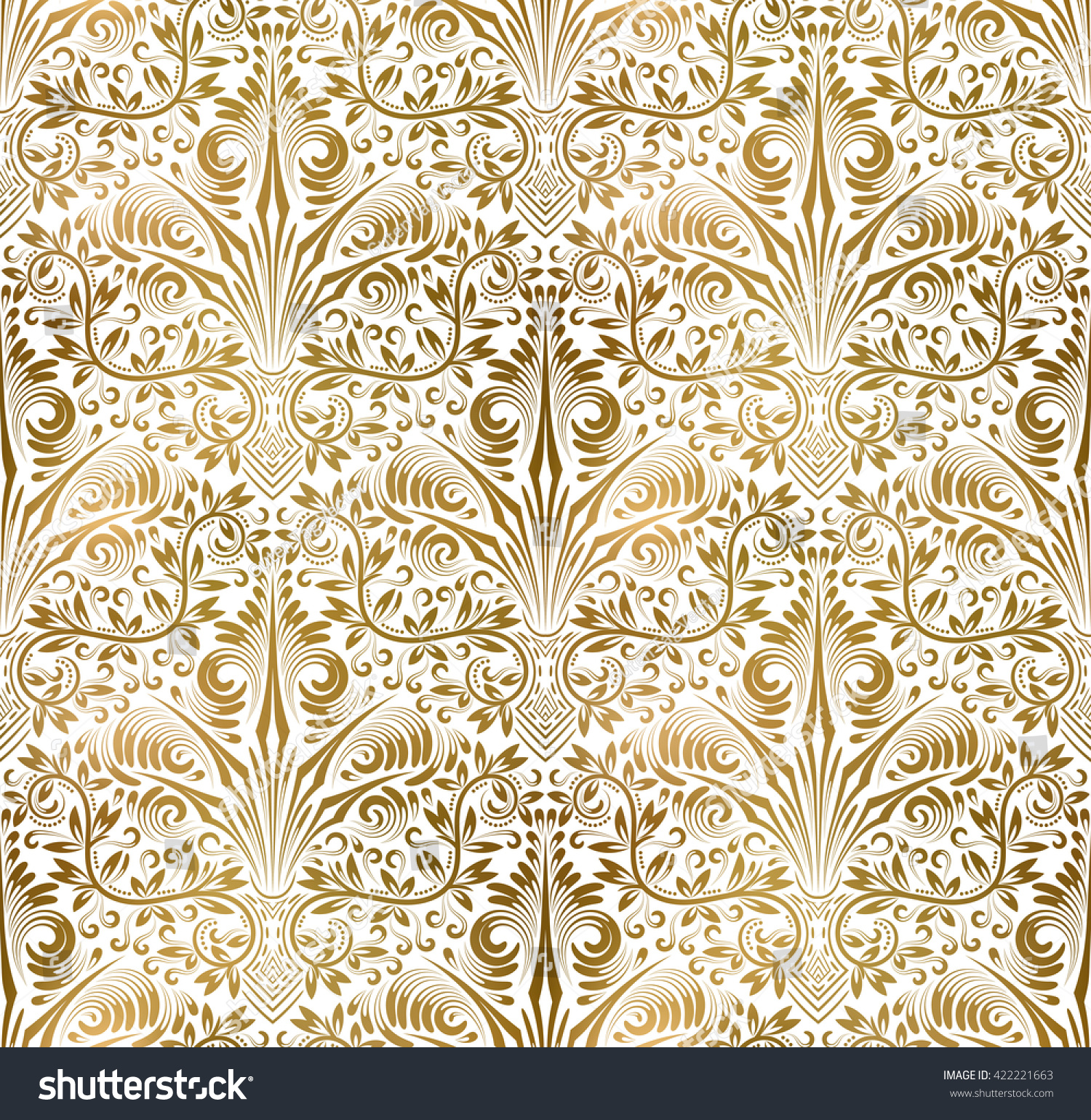 Gold and white pattern background