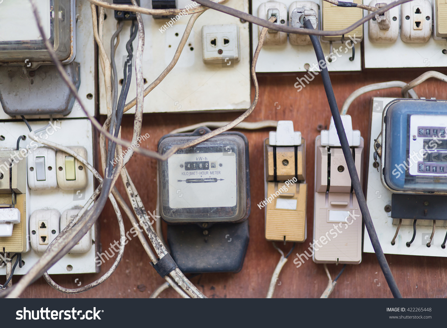 Breakers Switch Vector Flat Fuse Stock Photo Edit Now Wiring Circuit Box Electric Electrical Panel