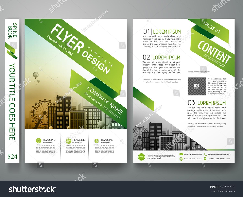 Flyers Design Template Vector Brochure Report Stock Vector