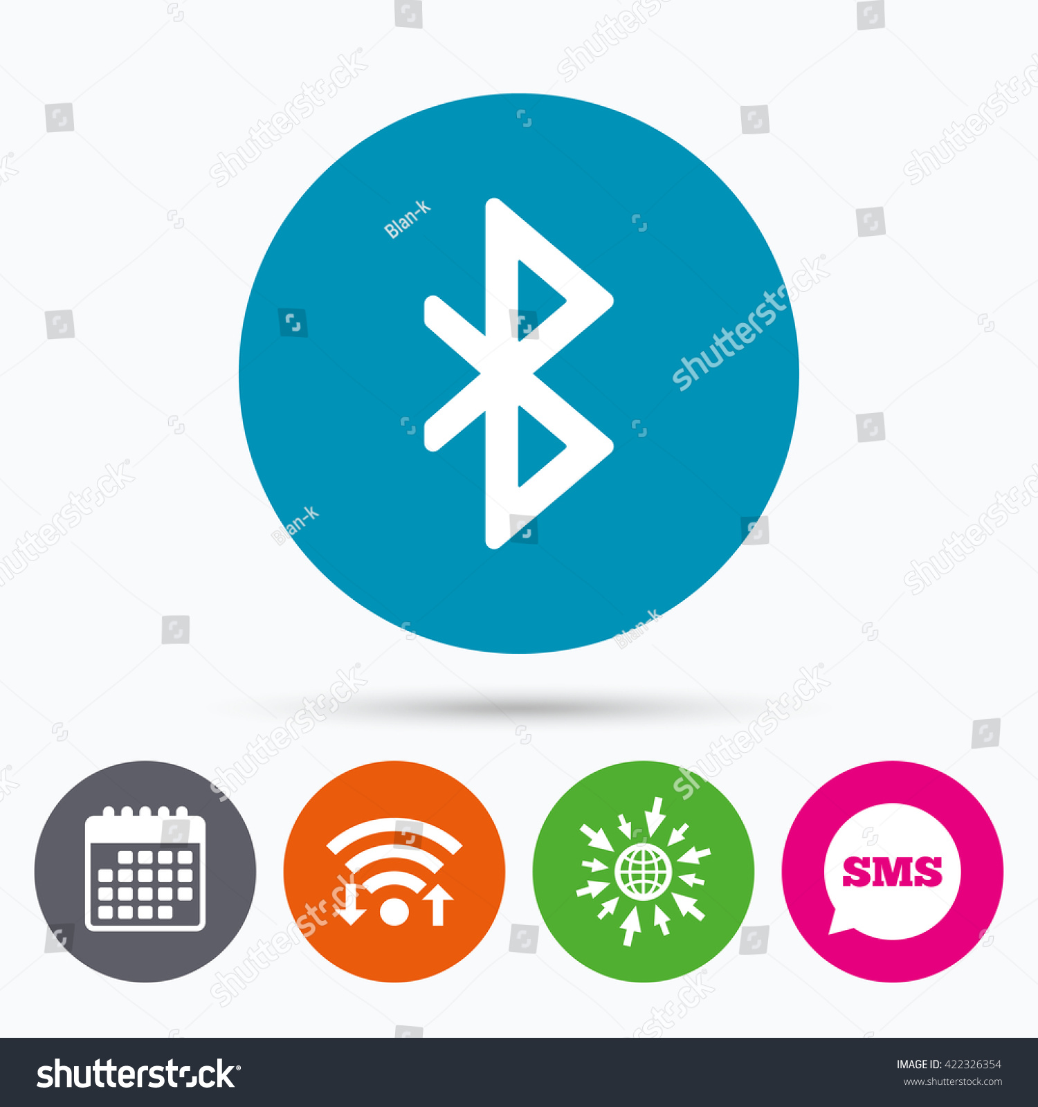 Wifi sms calendar icons bluetooth sign stock illustration wifi sms and calendar icons bluetooth sign icon mobile network symbol data biocorpaavc