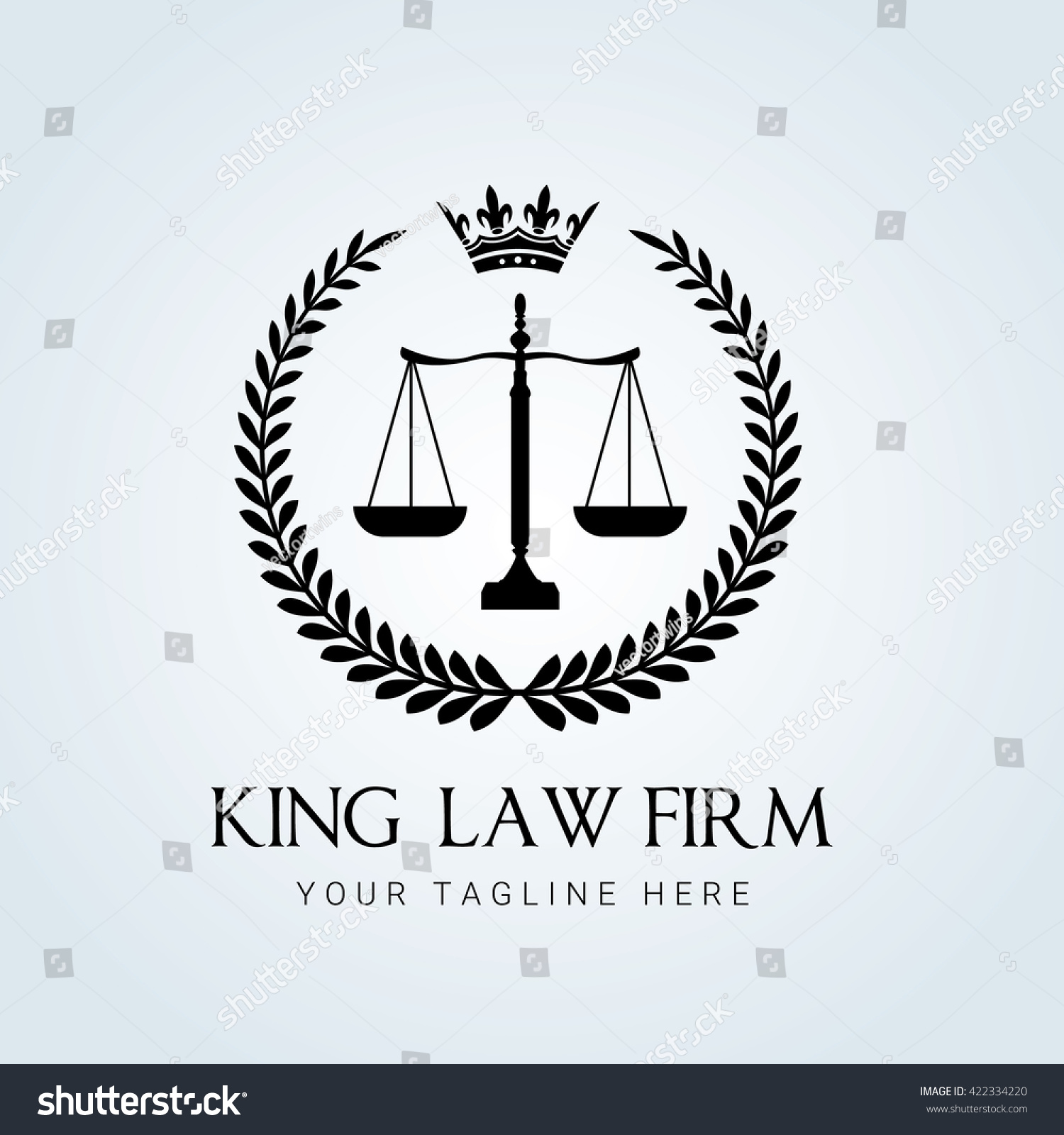 Law Firm Logo Template Stock Vector (Royalty Free) 422334220 ...