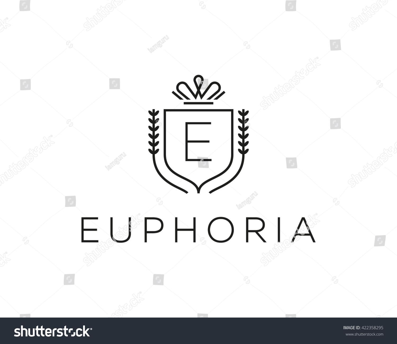 Elegant Monogram Letter E Logotype Premium Stock Illustration