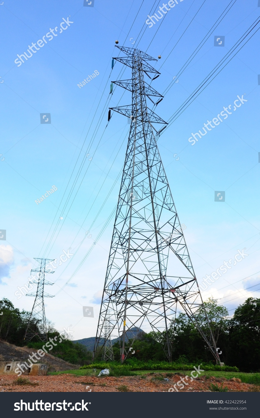 230 Kv Transmission Line Lineman Training Stock Photo Edit Now 422422954