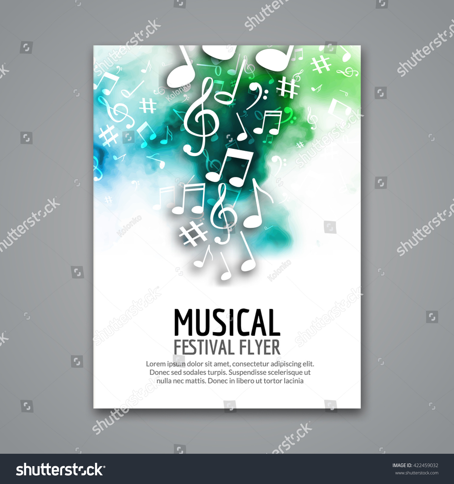 Poster design notes - Colorful Vector Music Festival Concert Template Flyer Musical Flyer Design Poster With Notes