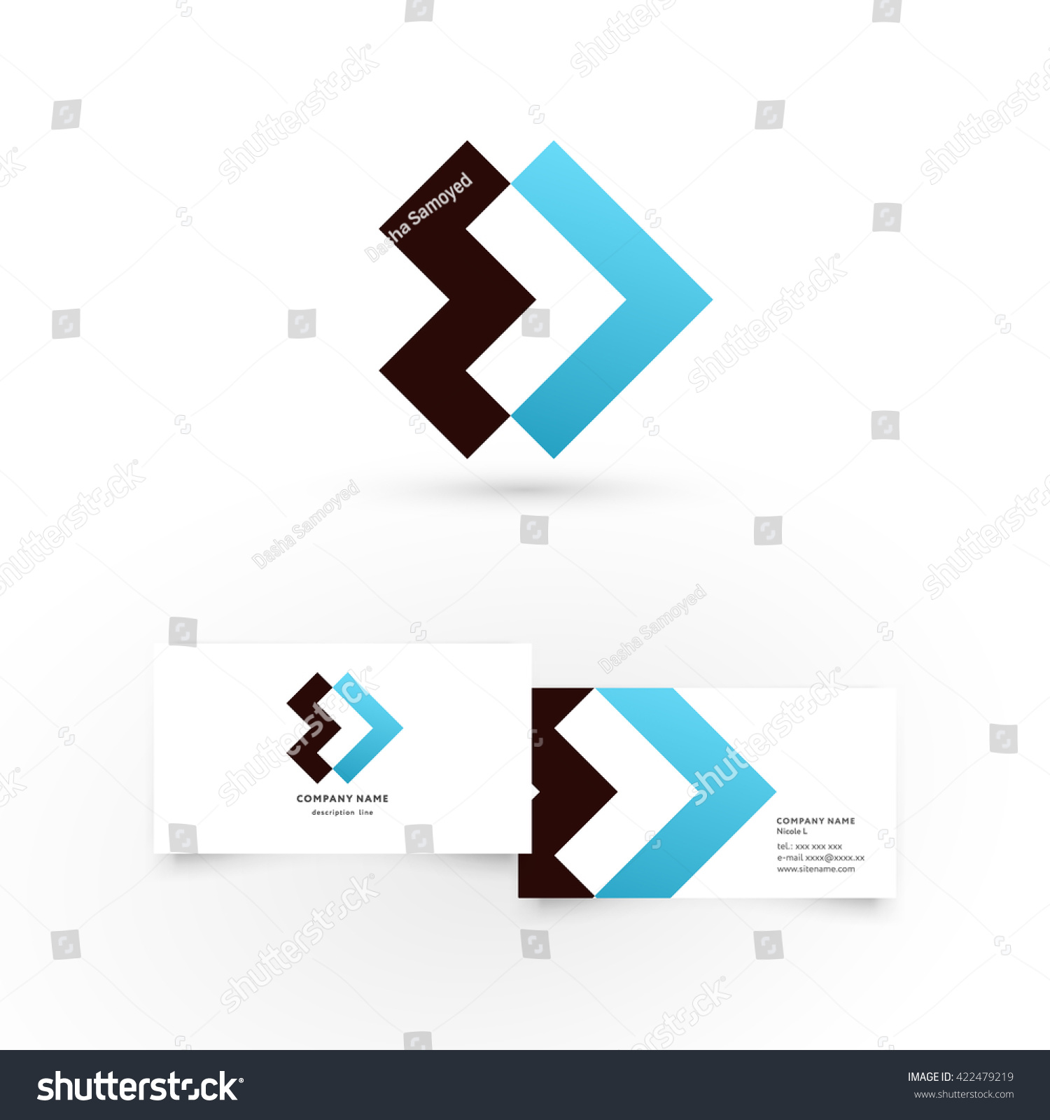 modern icon design logo element business stock vector