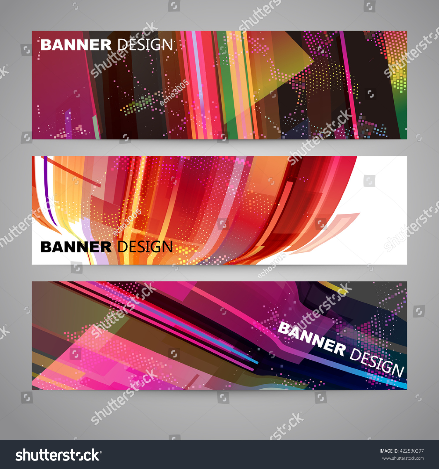 Set colorful flyer brochure design templates stock vector for Colorful brochure templates
