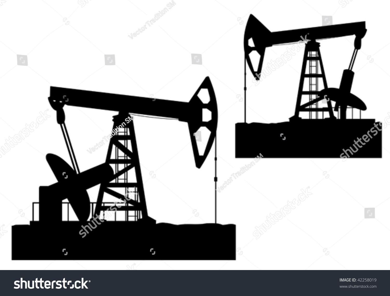 Oil Derrick Silhouette