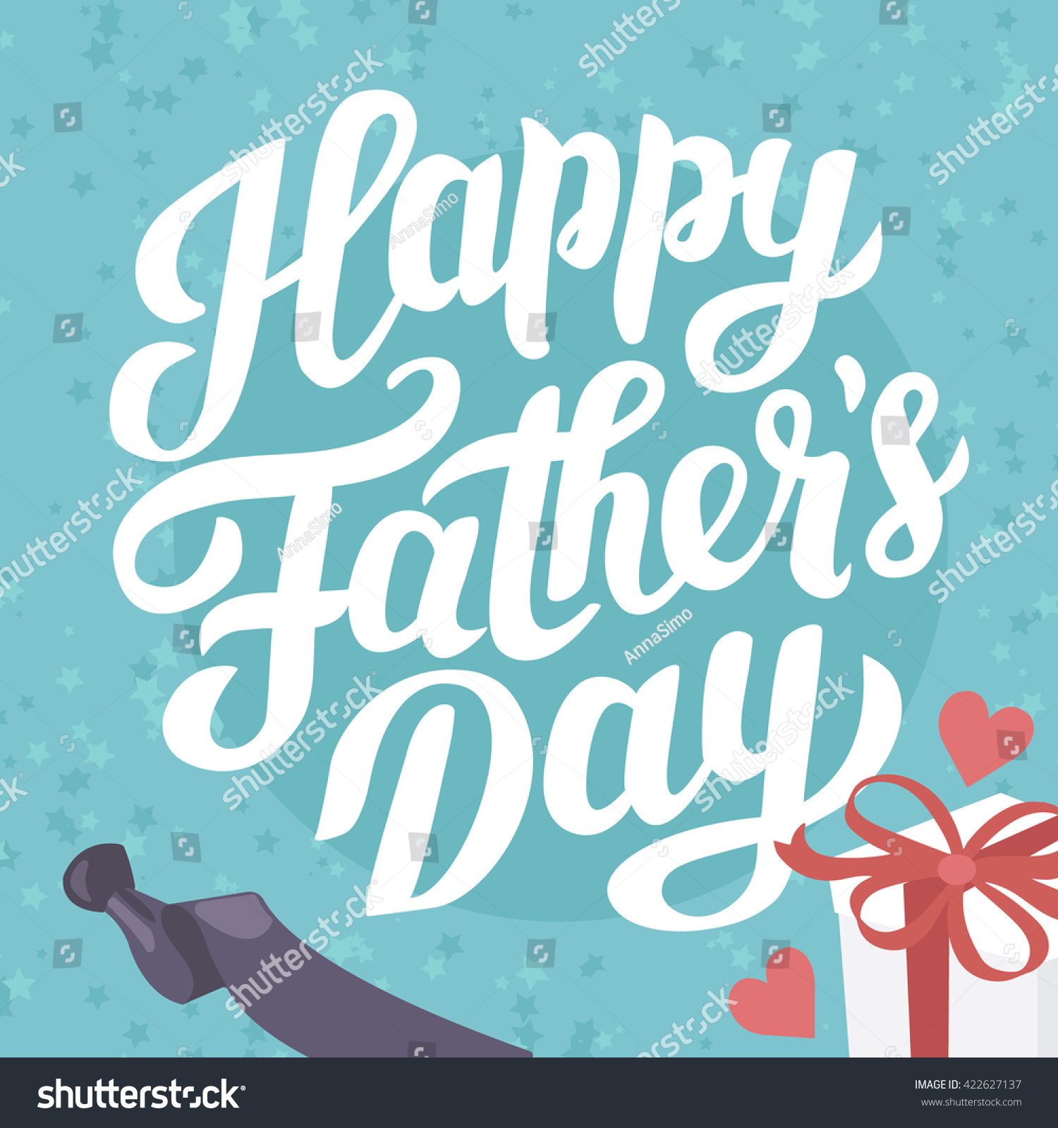Happy fathers day holiday greeting poster stock vector royalty free happy fathers day holiday greeting poster m4hsunfo