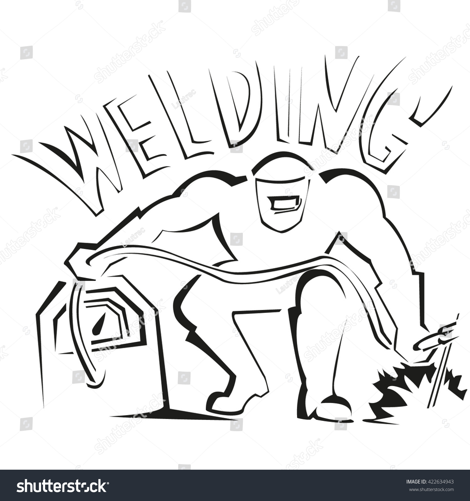 Welder Logo Stock Vector Illustration 422634943 : Shutterstock