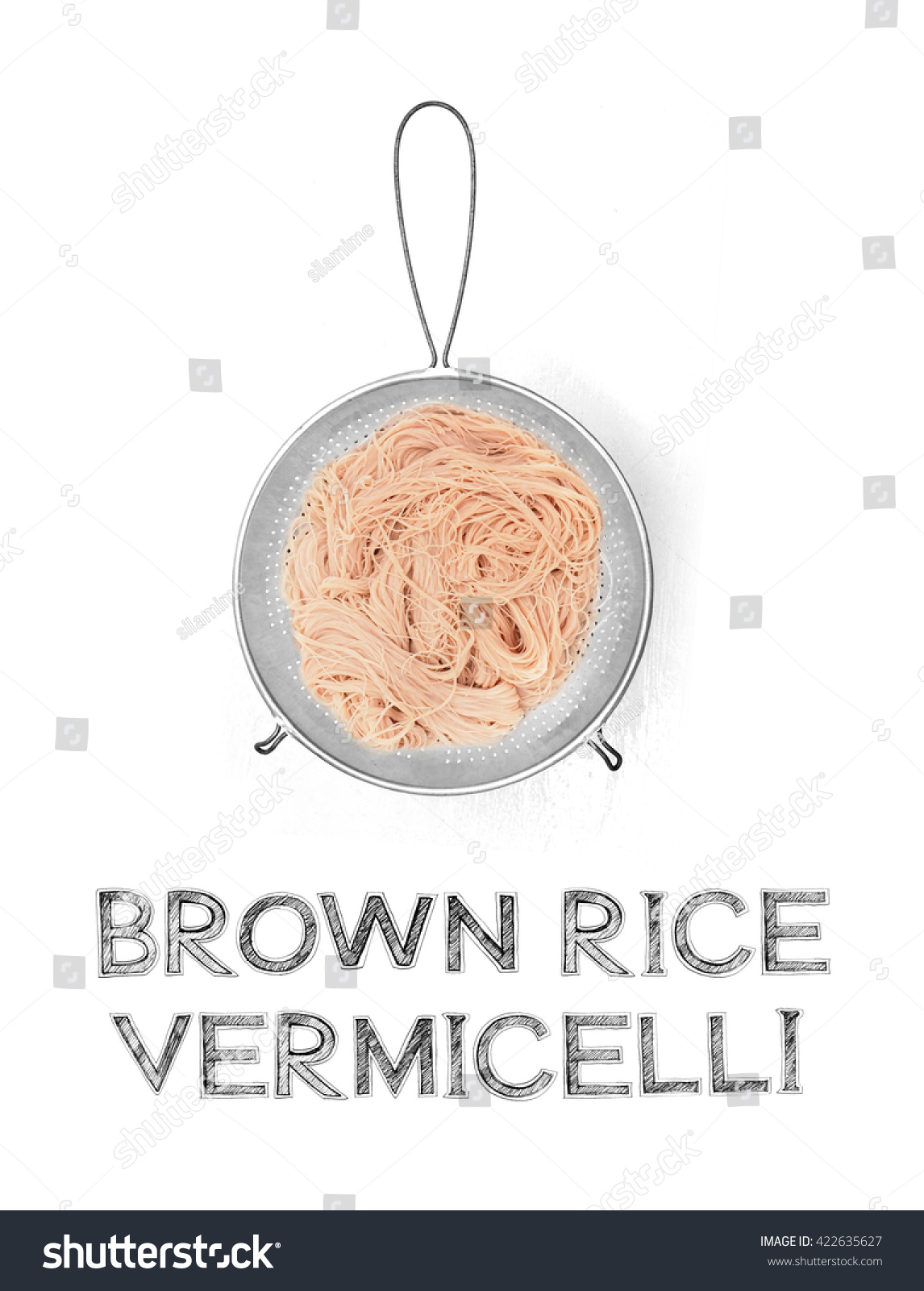 Brown Rice Vermicelli In Colander Be Immersed In Water, Soak Cooking Lentil  How To Cook