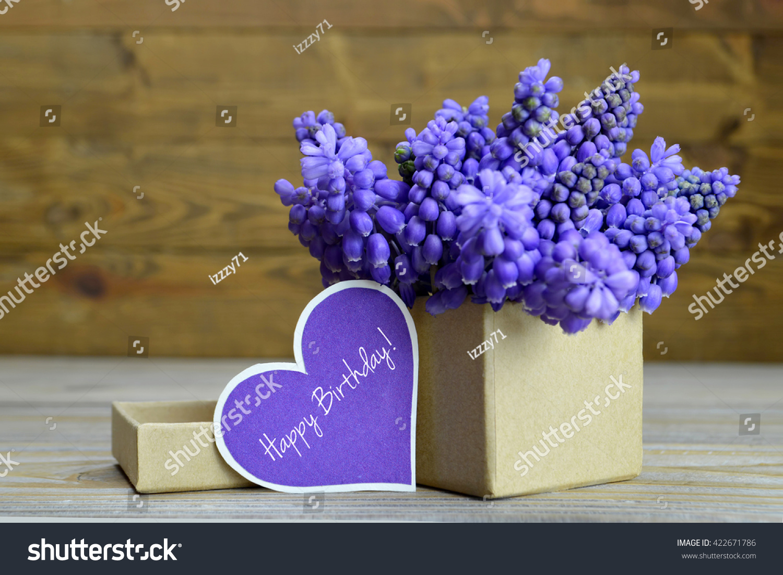 Happy Birthday Card Flowers Arranged Gift Stock Photo Edit Now