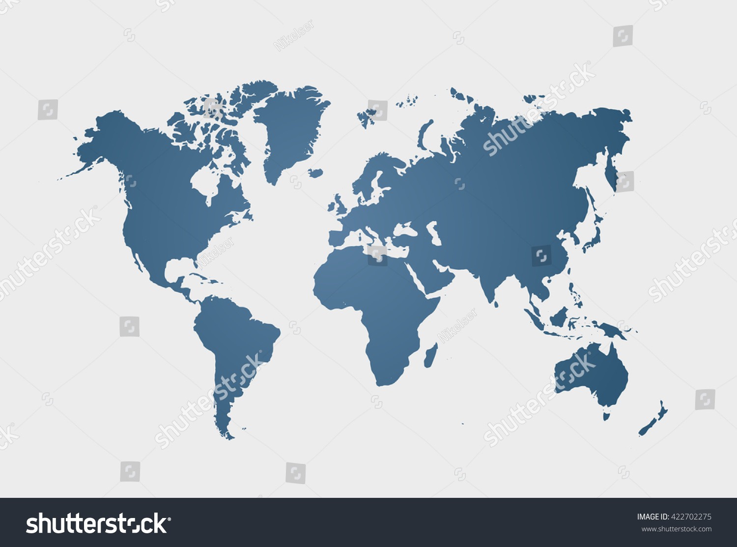 Blue similar world map blank world vectores en stock 422702275 blue similar world map blank world clean flat map vector illustration eps 10 gumiabroncs Gallery