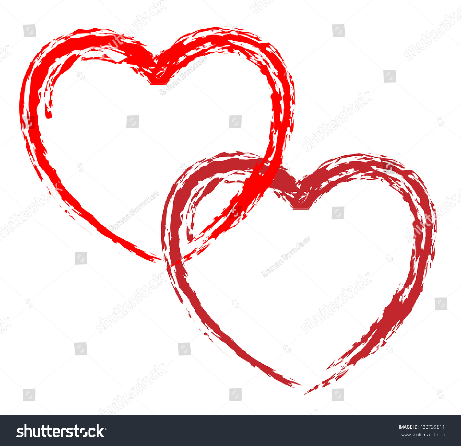Line Drawing Heart Shape : Couple vector hearts red love stock