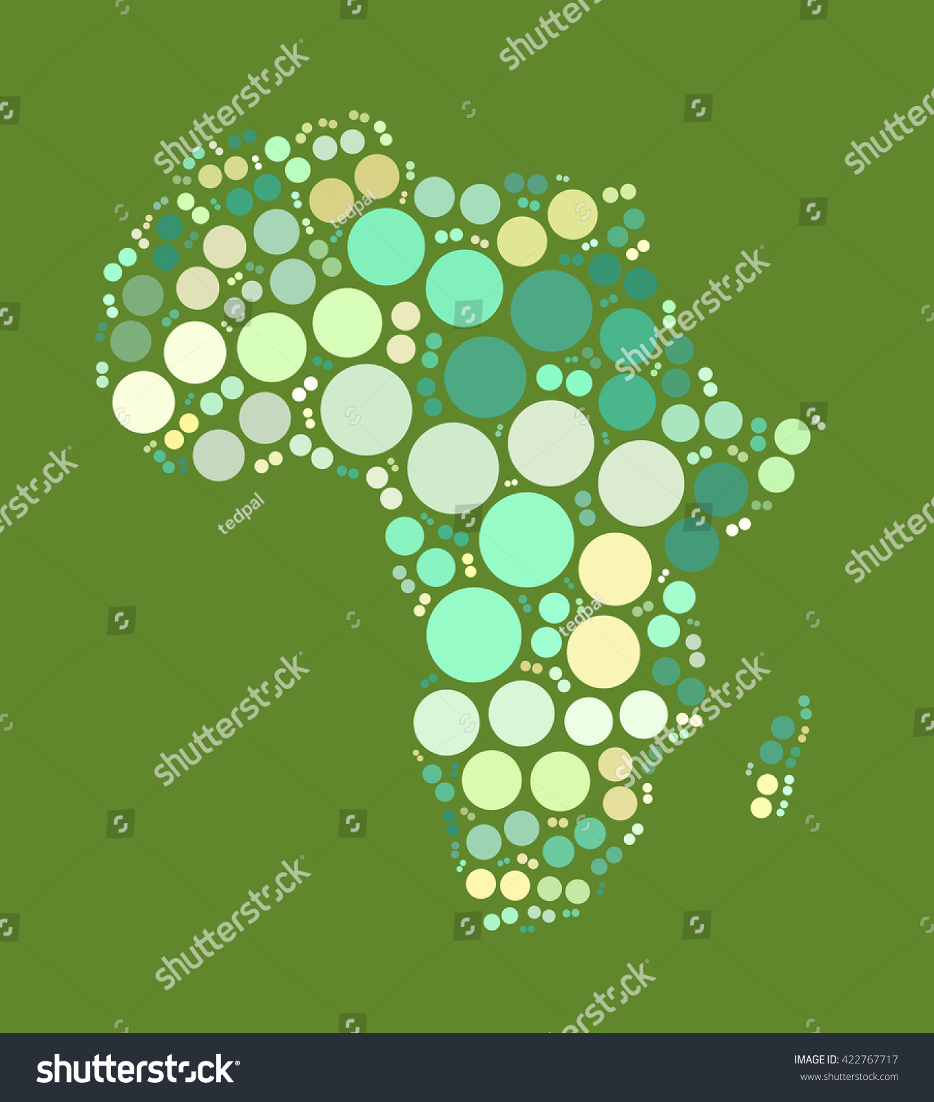 Africa Map Shape Design By Color Stock Illustration 422767717