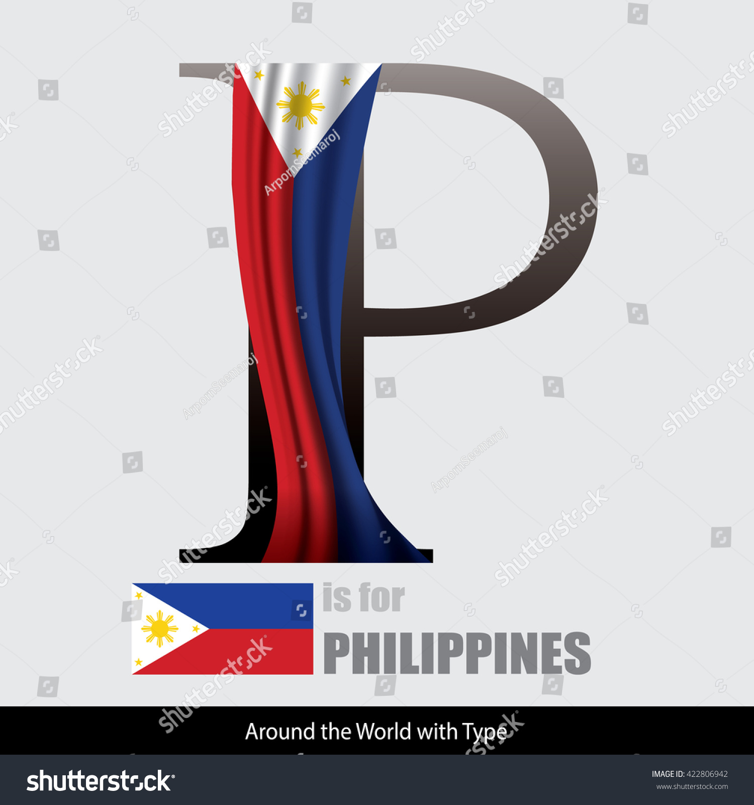 Vector letter p philippines flag design stock vector 422806942 vector letter p is for philippines flag design matches letters of the alphabet with name biocorpaavc Choice Image
