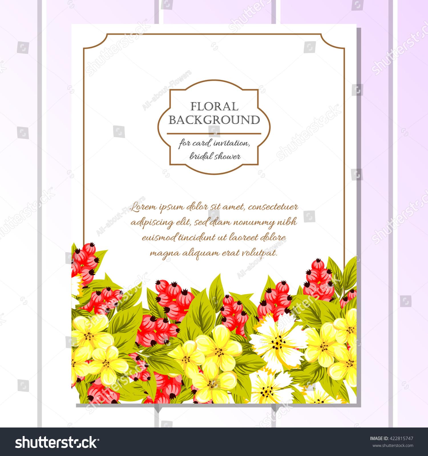 Romantic Invitation Wedding Marriage Bridal Birthday