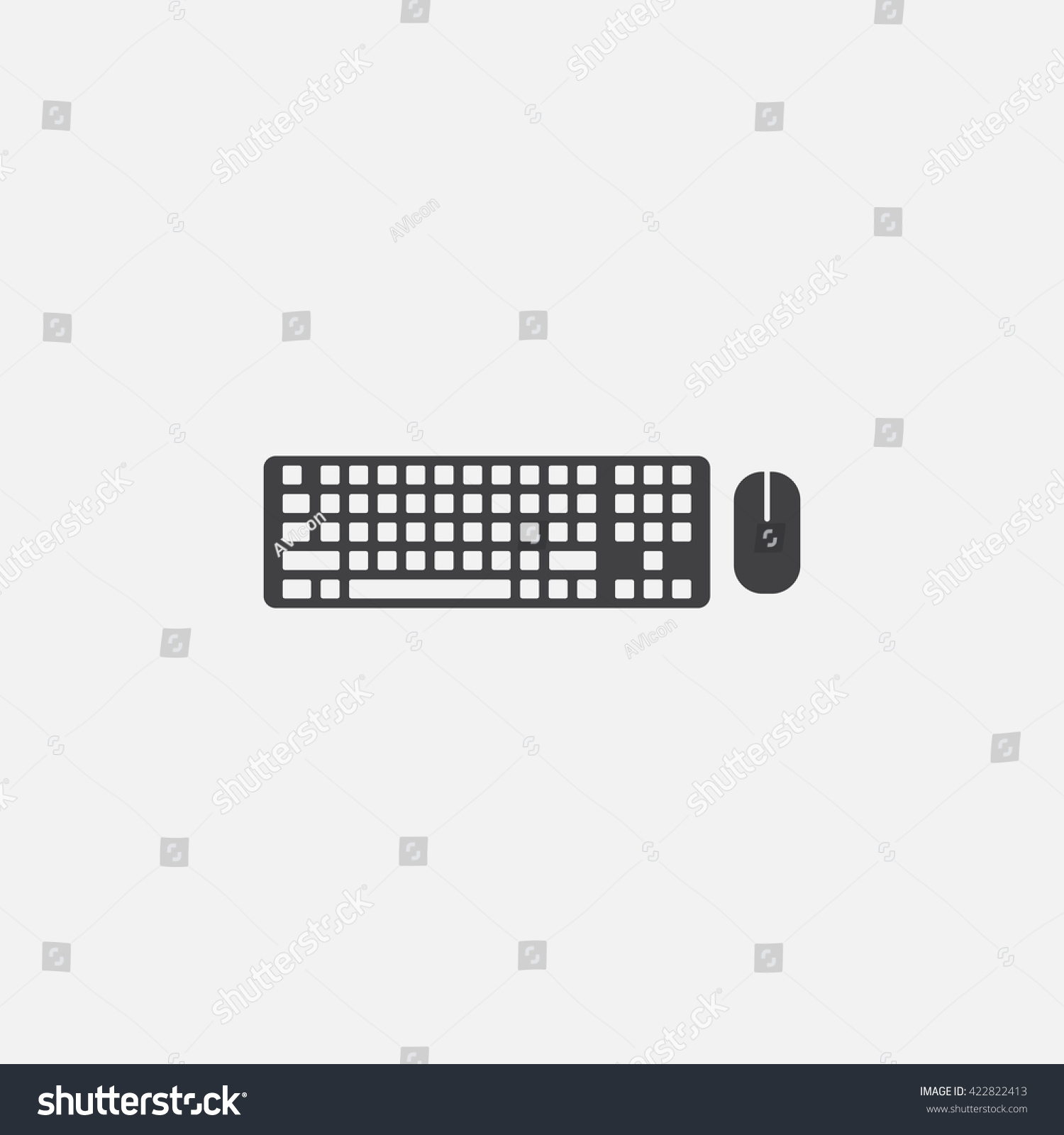 Keyboard Mouse Icon Vector Solid Logo Stock Vector ...