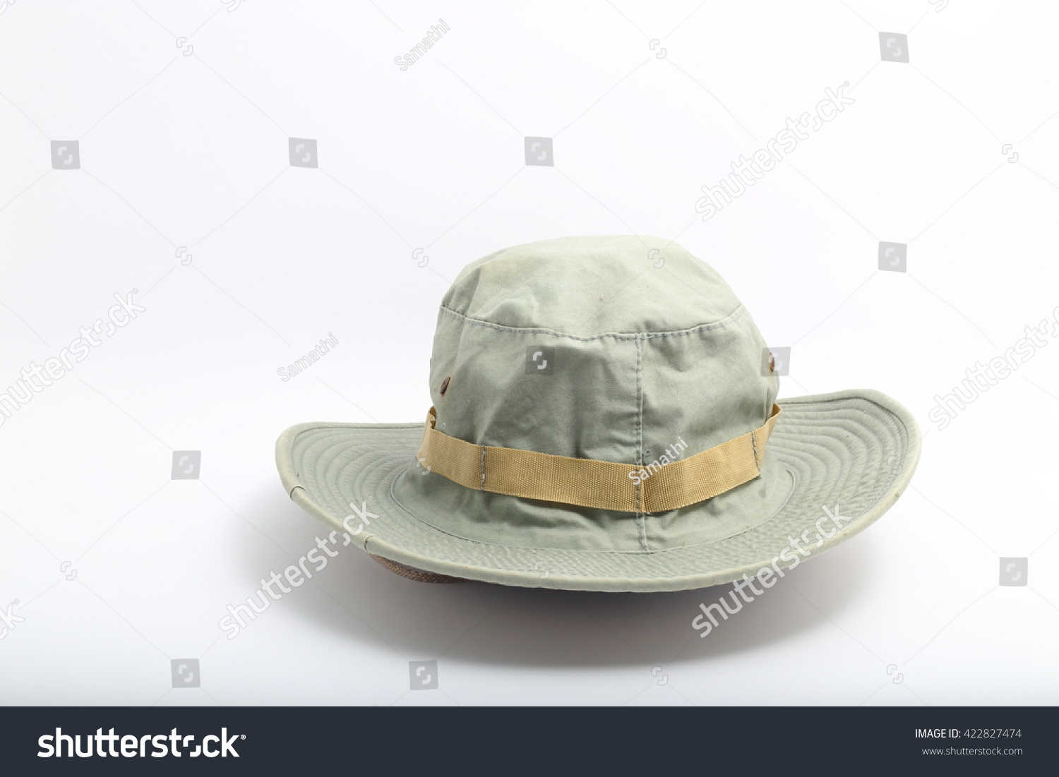 fef31bdc0 Outback Safari Green Hat Isolated On Stock Photo (Edit Now ...