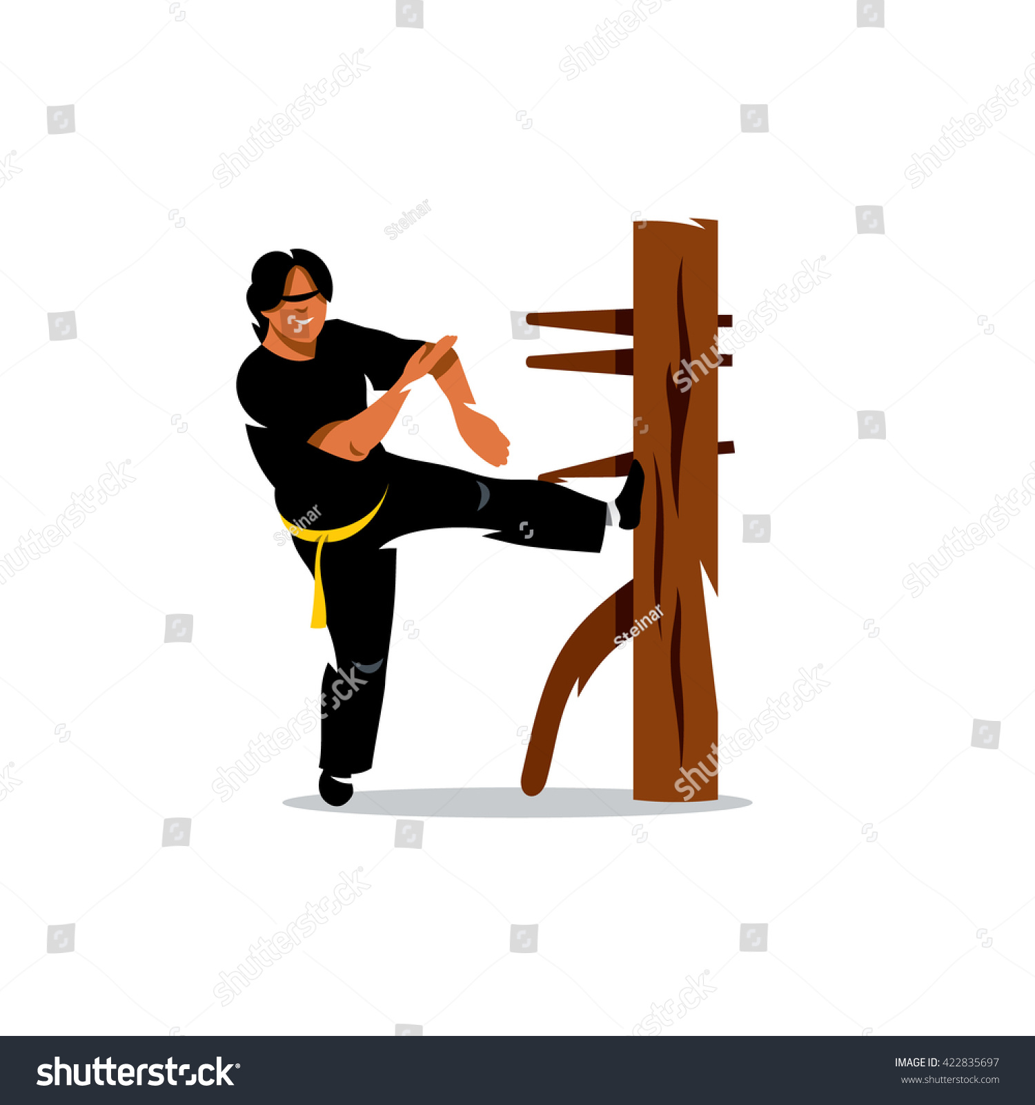 Vector Wing Chun Kung Fu Man Stock Vector Royalty Free 422835697