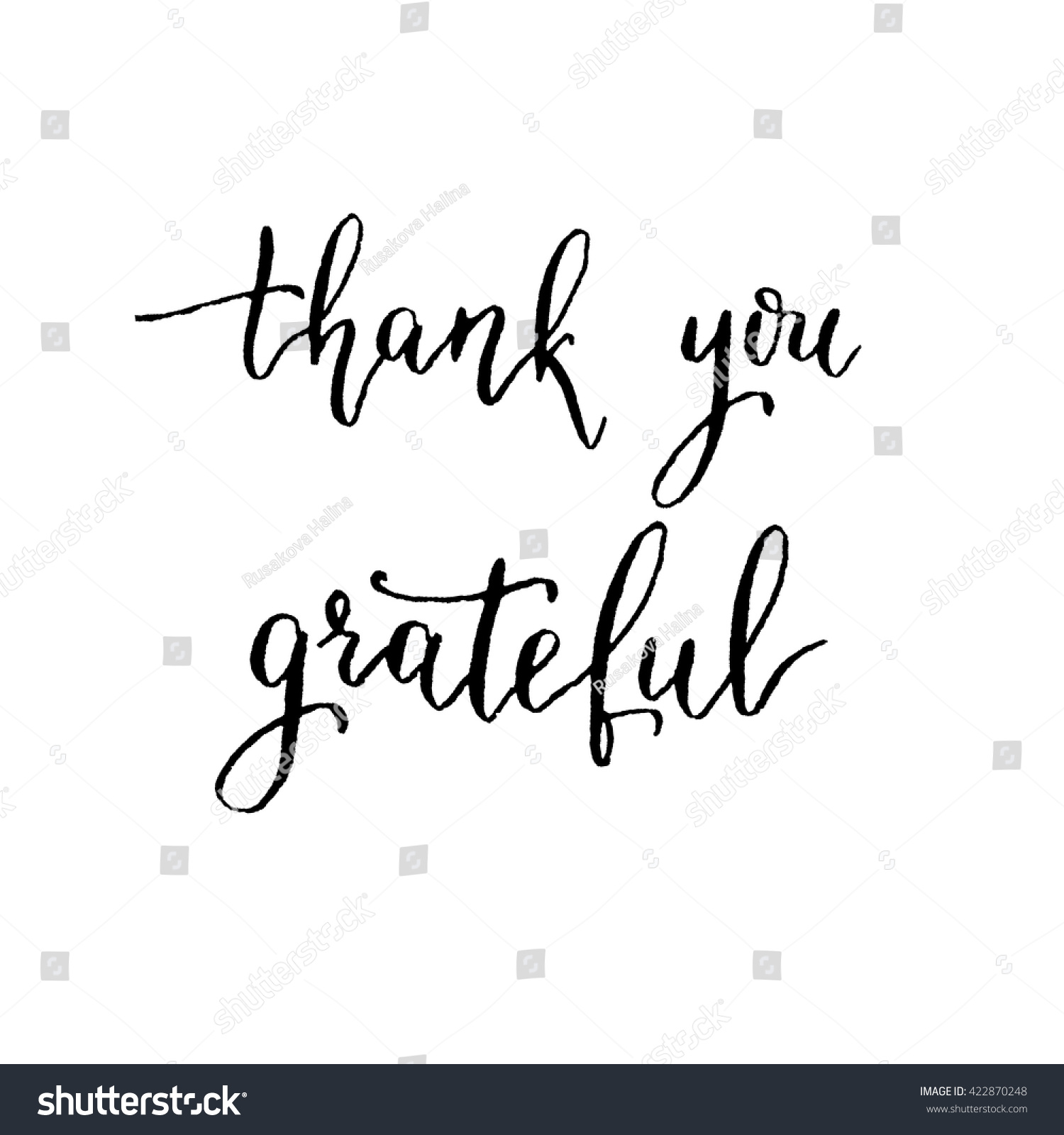 Thank you grateful hand lettering vector stock