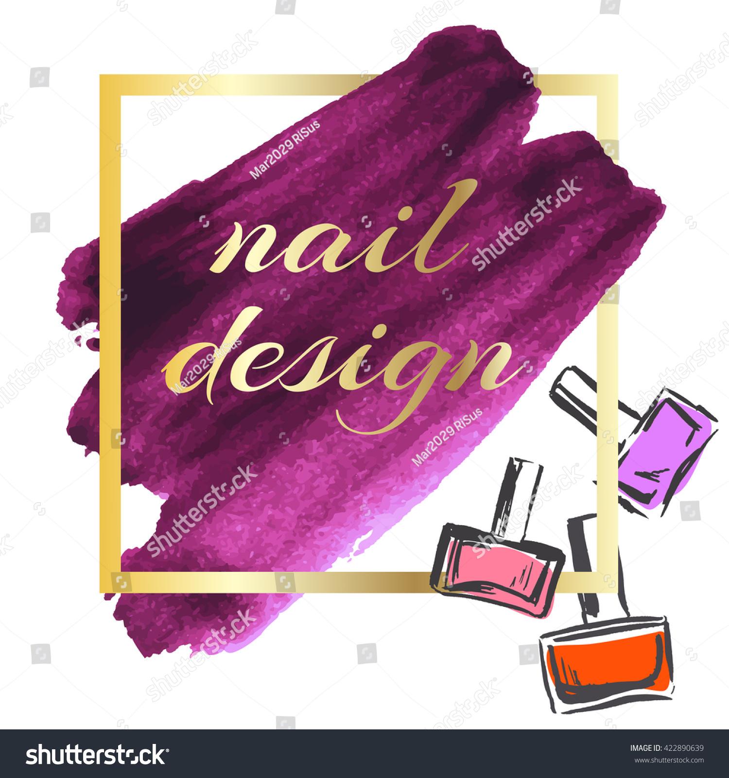 banner nail polish design leaflets flyers stock vector royalty free