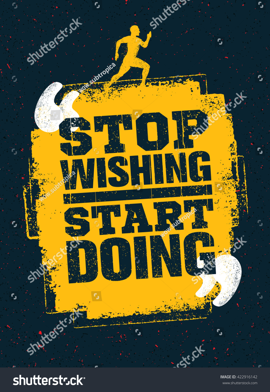Stop wishing start doing sport running stock vector - Stop wishing start doing hd wallpaper ...