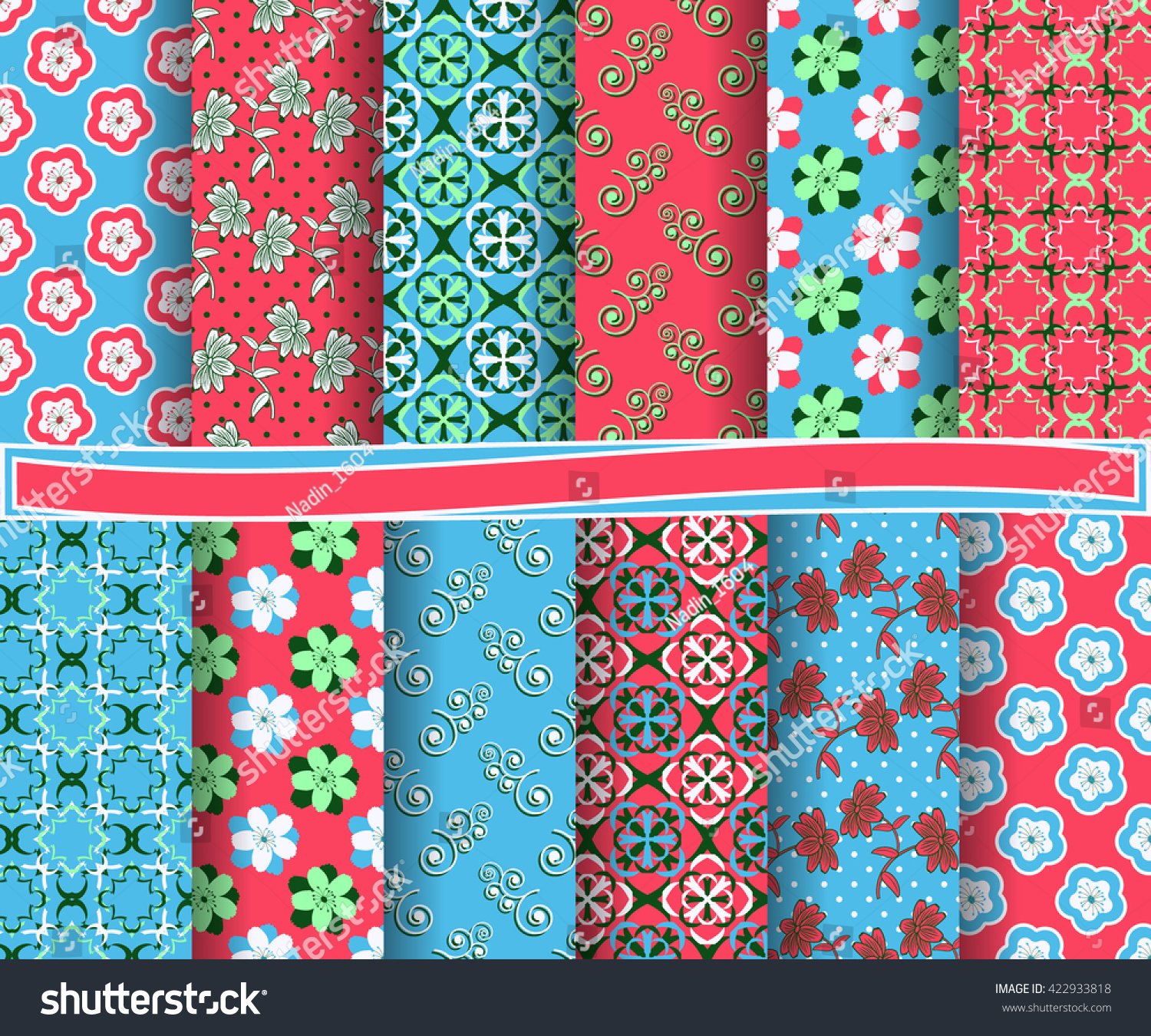 Set Of Abstract Vector Paper With Decorative Shapes And Design