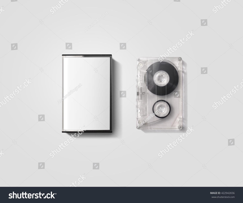 blank cassette tape box design mockup stock photo. Black Bedroom Furniture Sets. Home Design Ideas