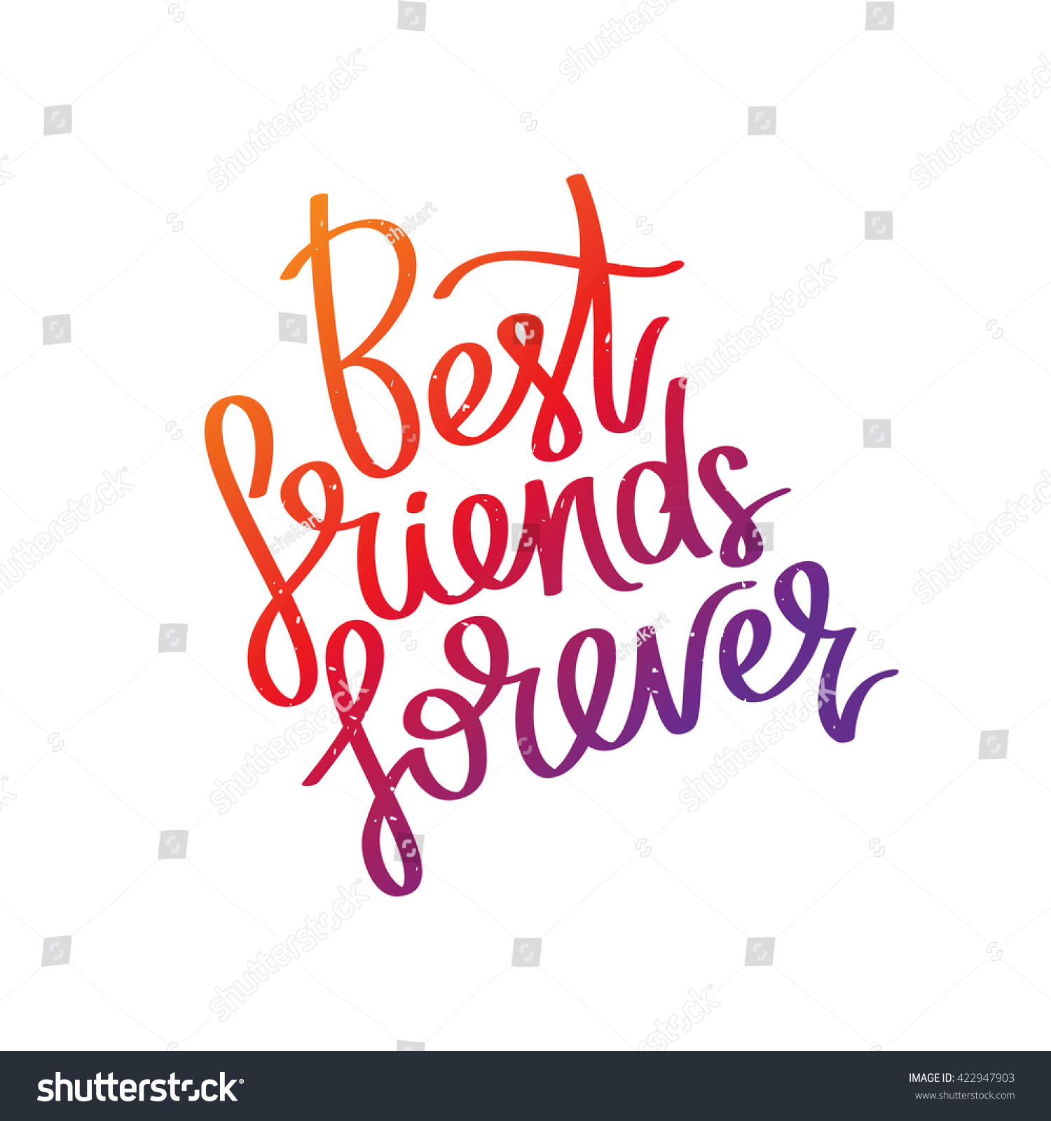 Best friends forever trend calligraphy vector stock