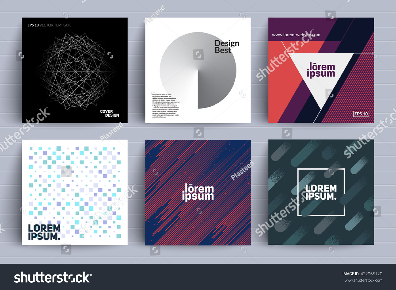 Trendy Poster Designs: Set Backgrounds Trendy Design Applicable Covers Stock