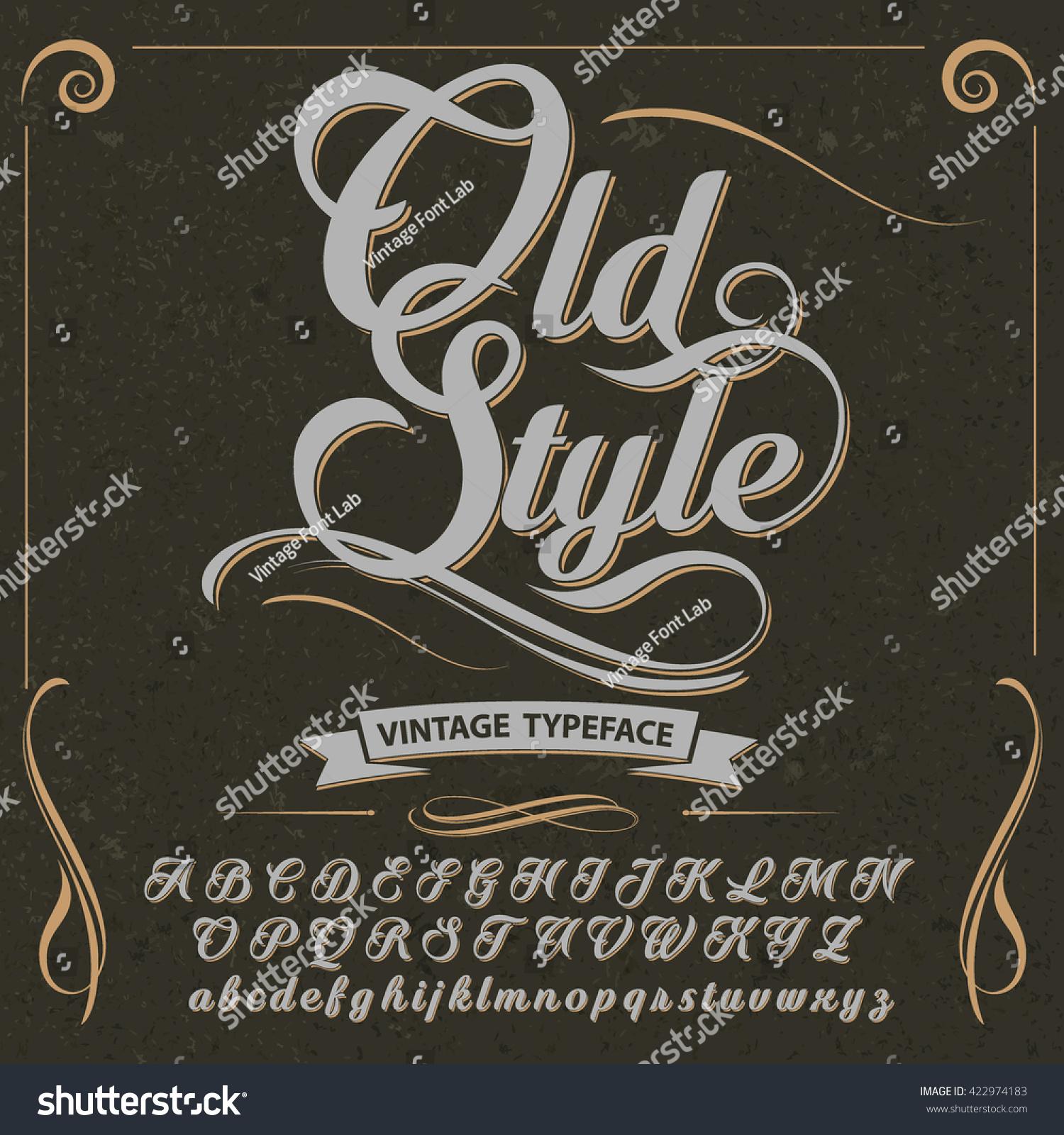 Opening vintage script fonts
