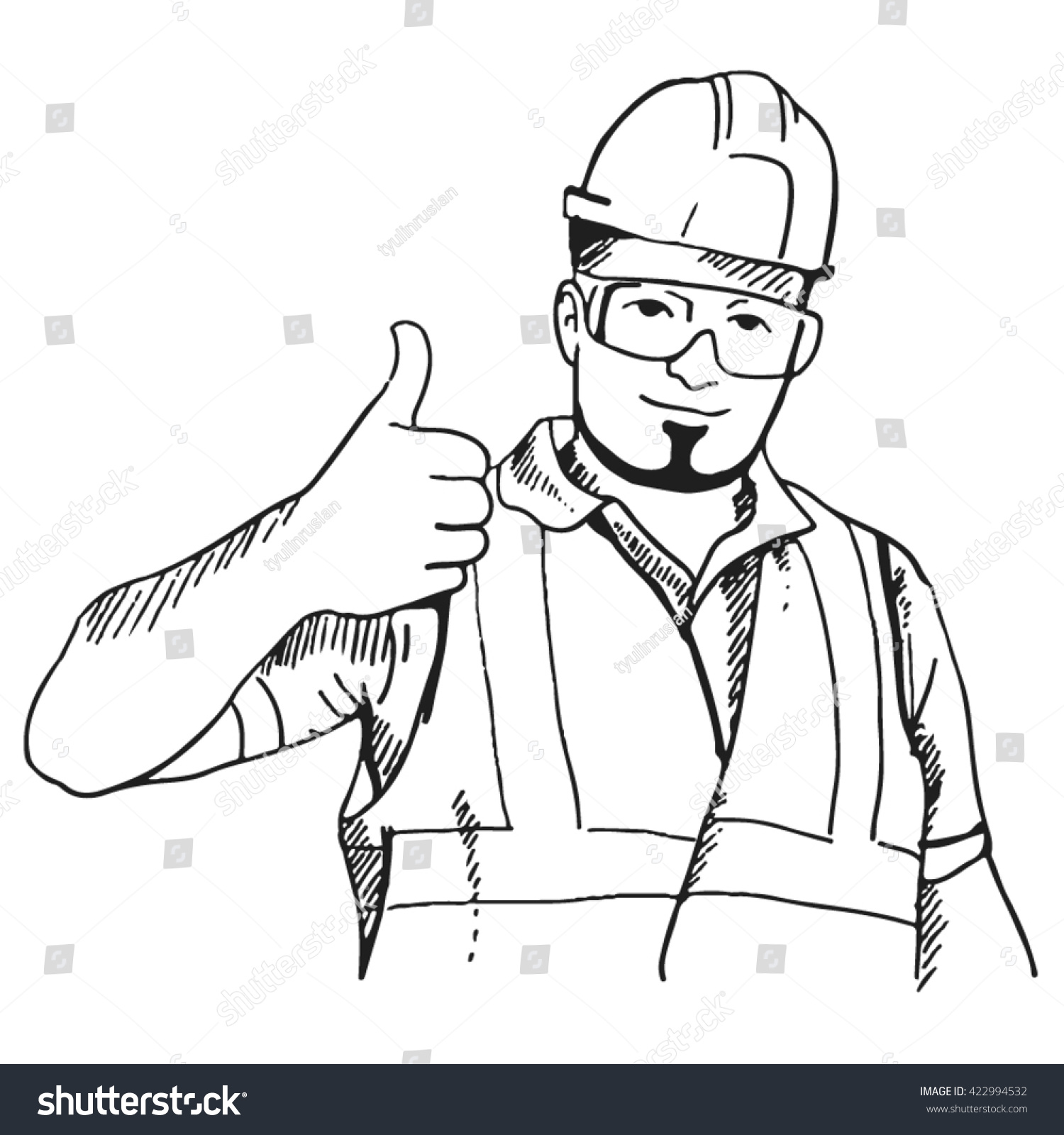 good worker stock vector shutterstock good worker