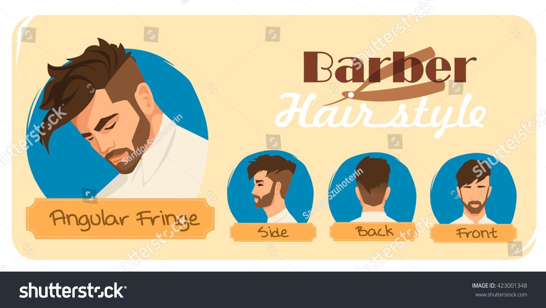 Royalty Free Mens Haircut And Hairstyle Angular 423001348 Stock