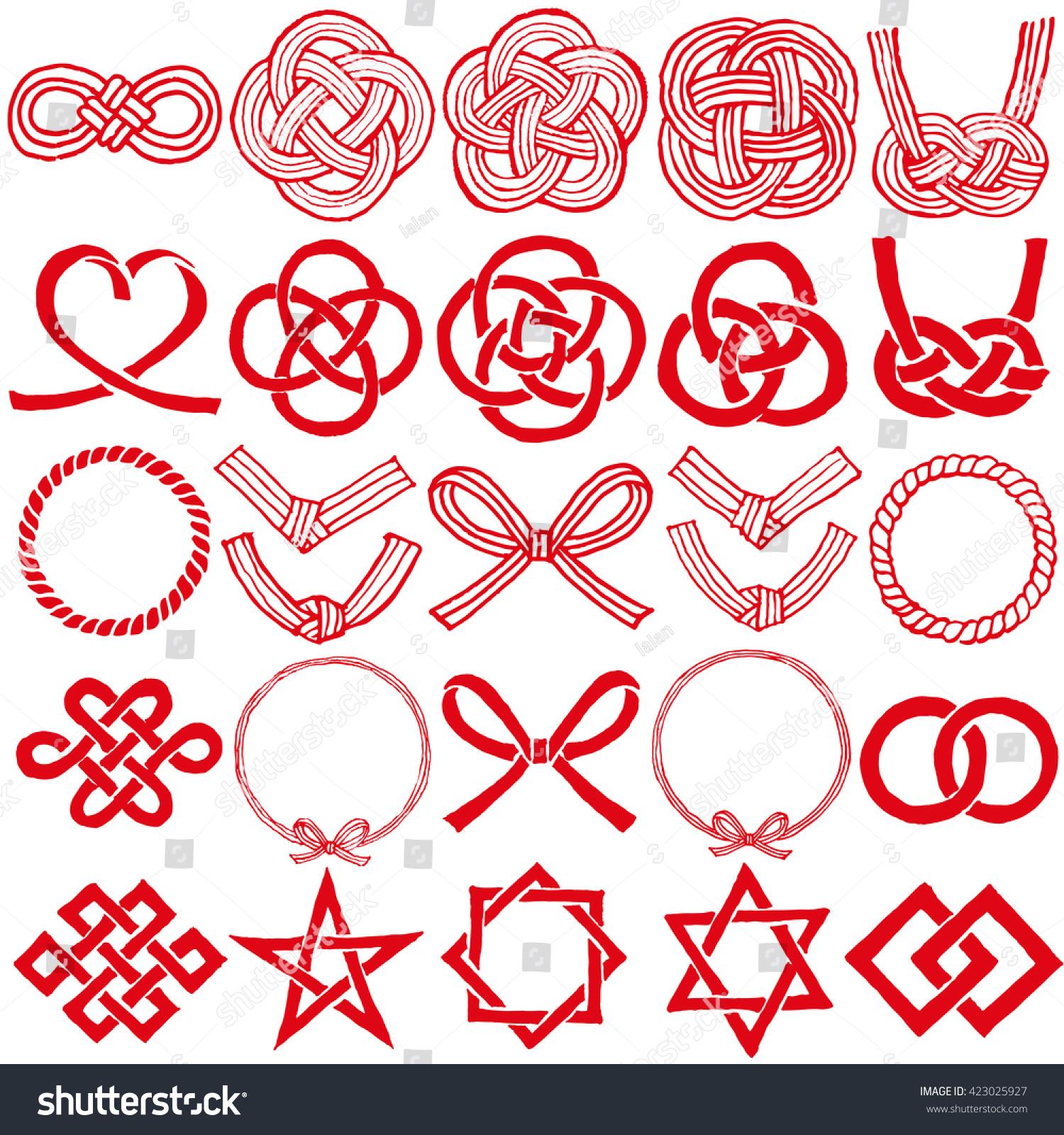 Mizuhiki japanese family crests mizuhiki decorative stock vector mizuhiki and japanese family crests mizuhiki decorative japanese cord made from twisted paper biocorpaavc Gallery