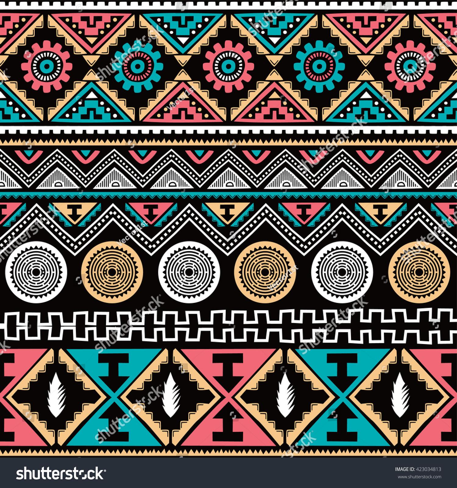native american ethnic seamless pattern