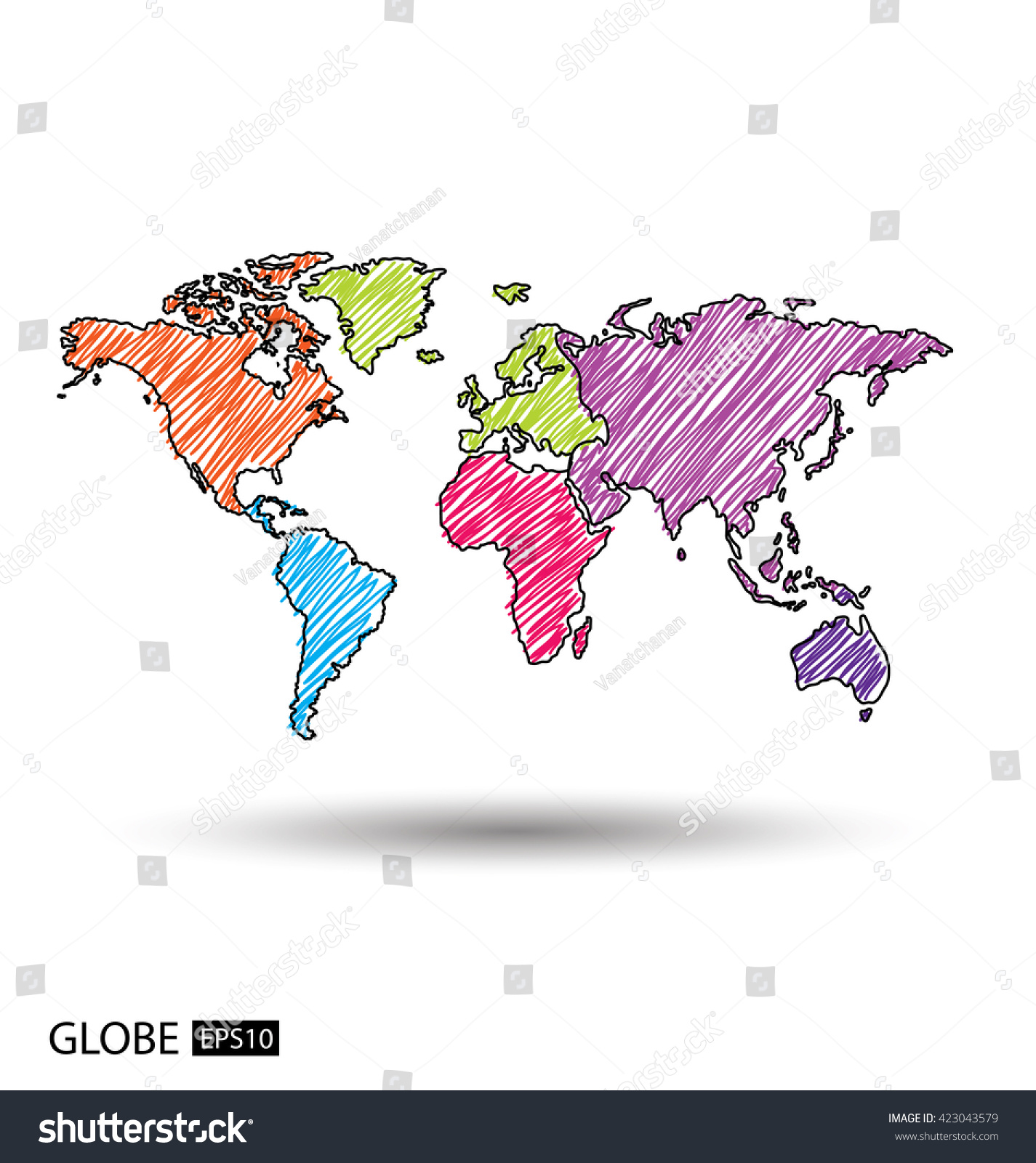 Africa asia australia europe north america vectores en stock africa asia australia europe north america vectores en stock 423043579 shutterstock gumiabroncs Choice Image