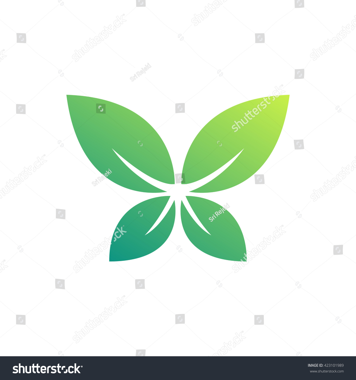 Nature butterfly symbol vector leaf golden stock vector 423101989 nature butterfly symbol vector leaf golden shape and monochromatic one abstract emblem biocorpaavc Image collections