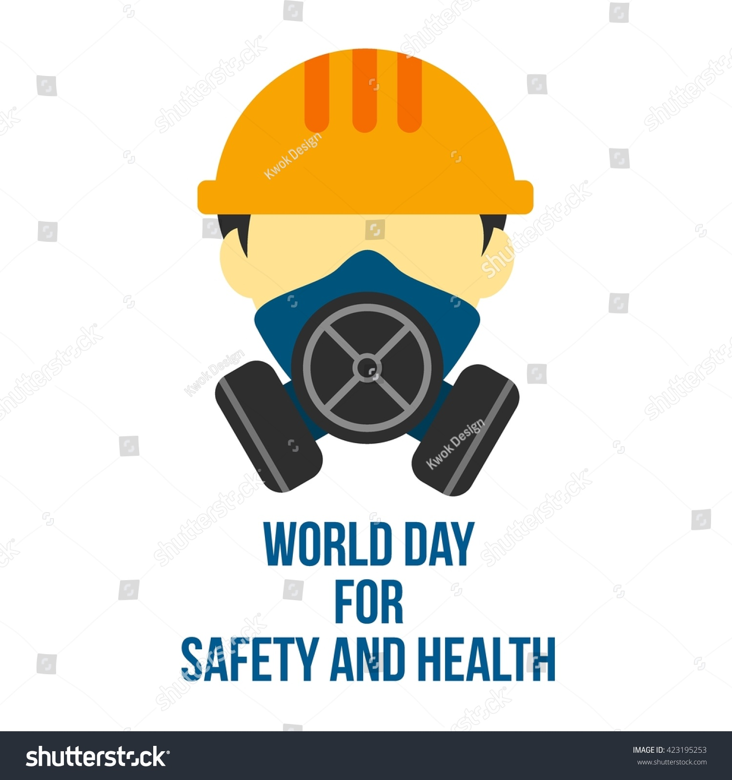 campaign world day safety health work stock vector