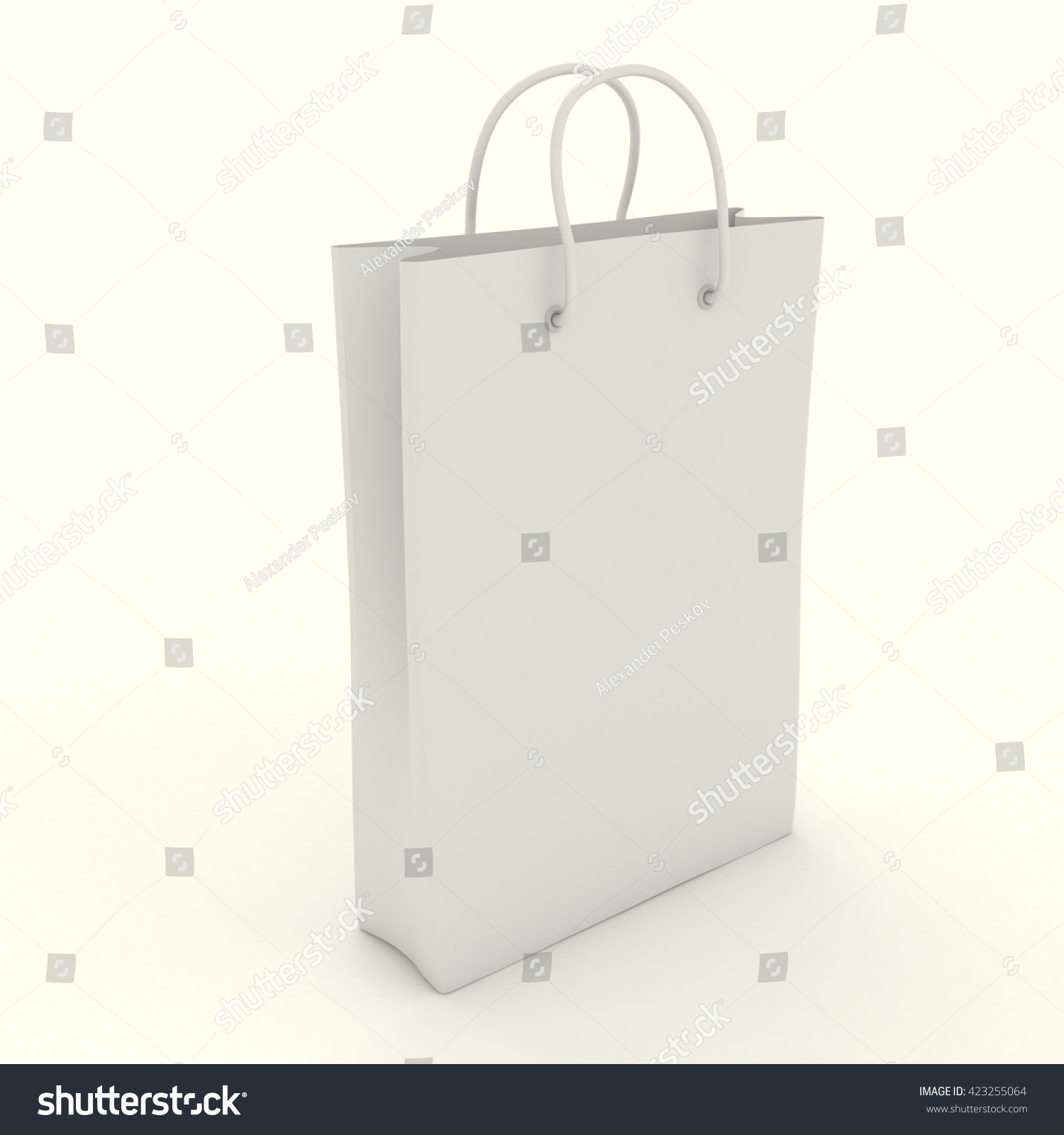 Shopping Paper Bag Template Clean Blank Stock Illustration 423255064 ...