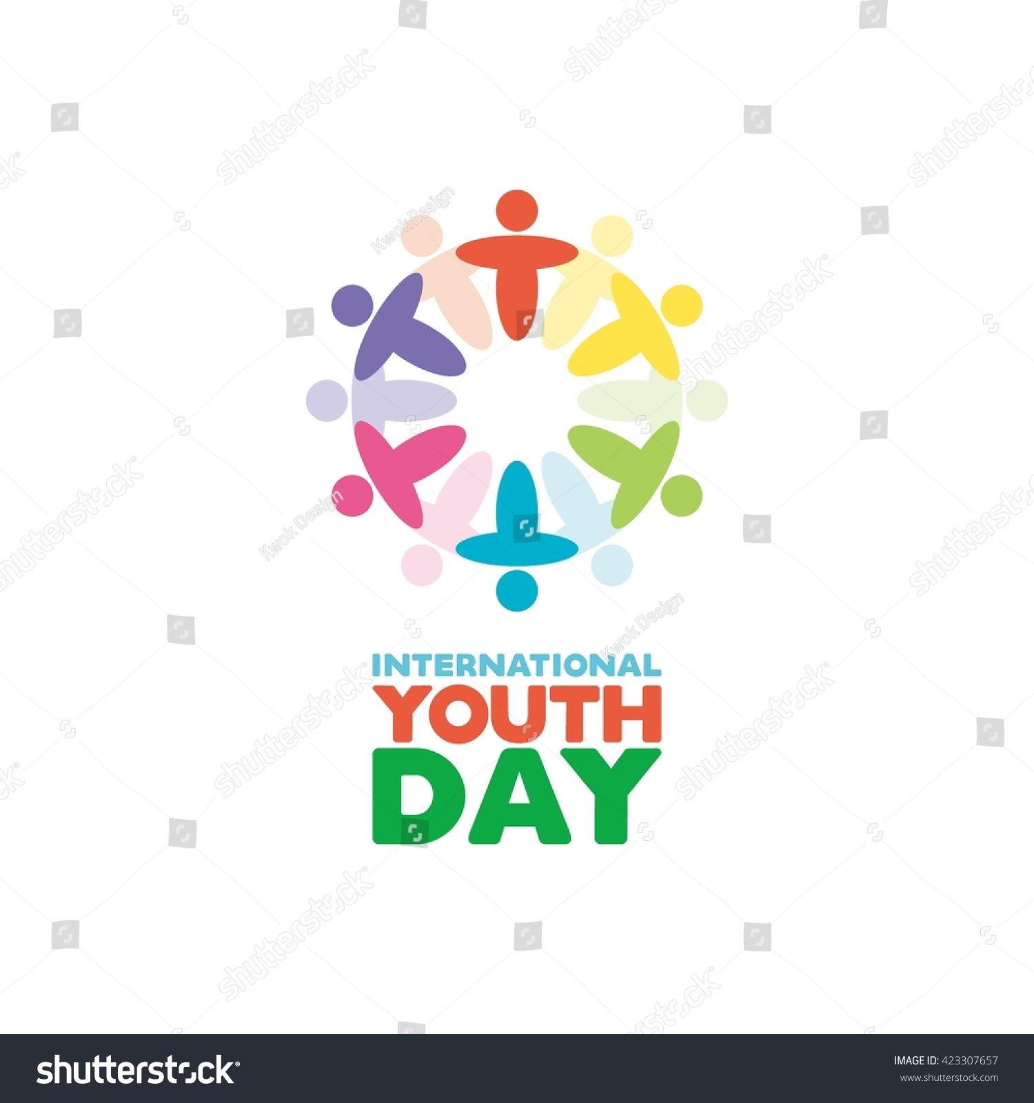Poster design for youth - International Youth Day Greeting Card And Poster Design