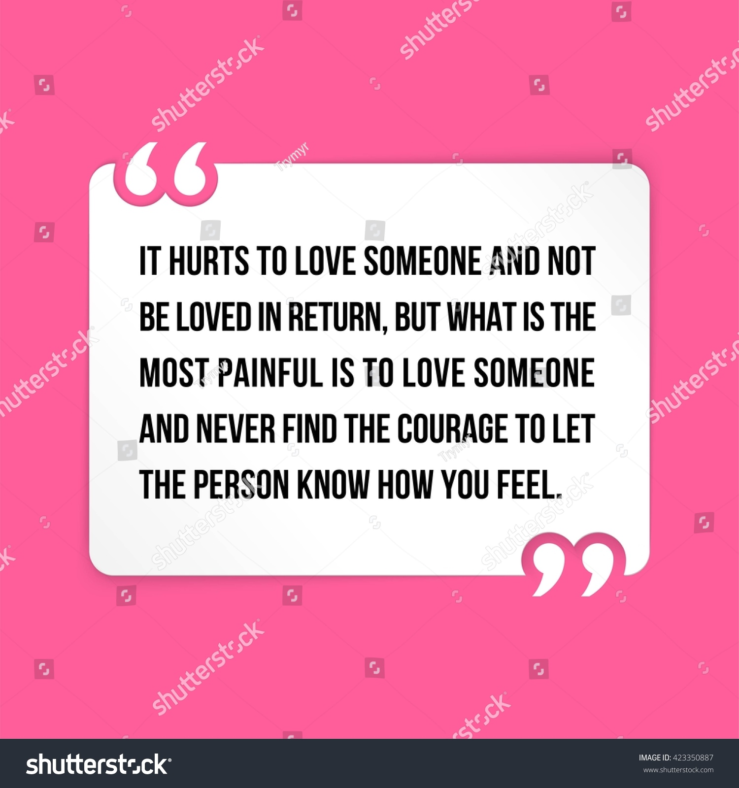 why does it hurt to love someone