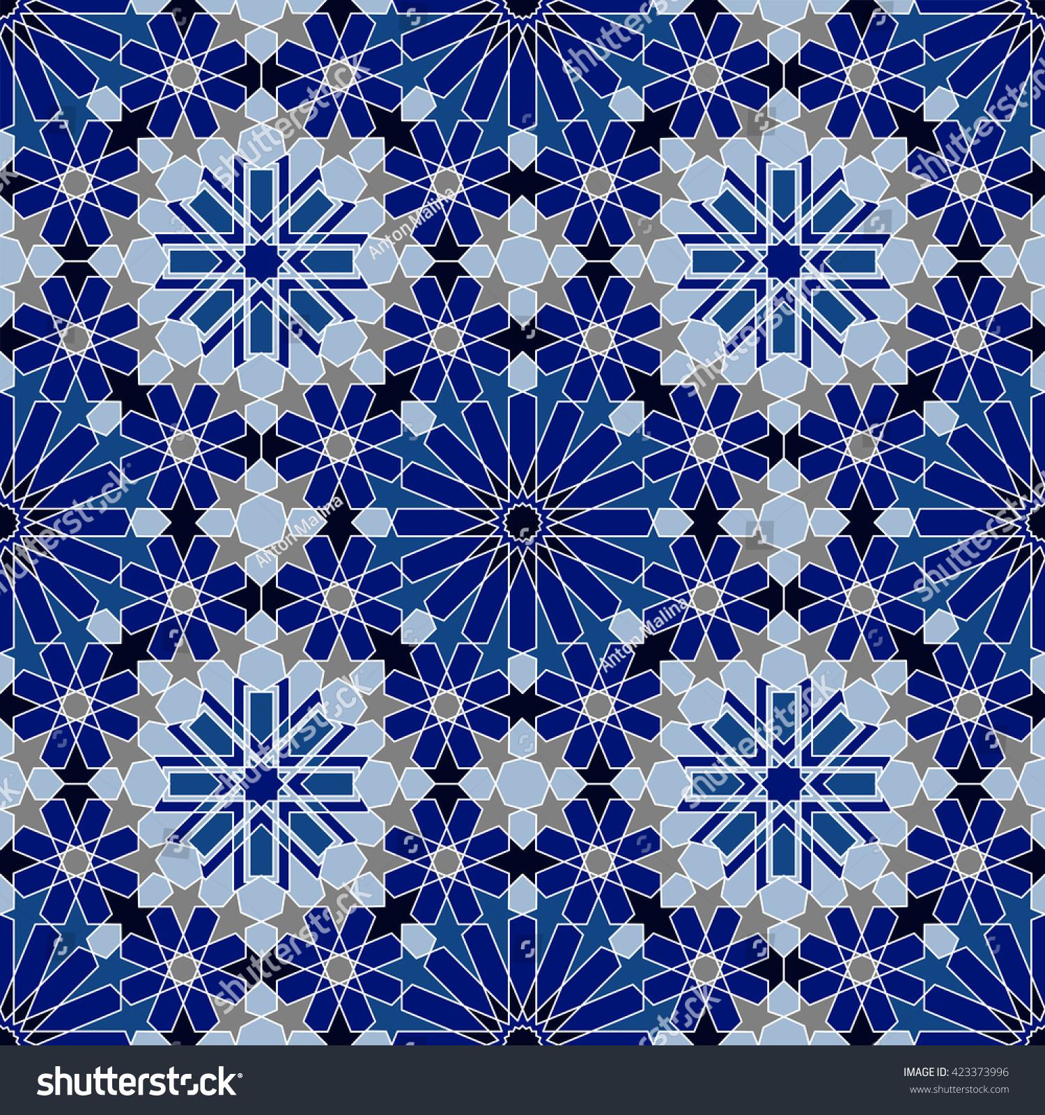 Moroccan Tile Texture Islamic Seamless Pattern Oriental Background Mediterranean Wallpaper