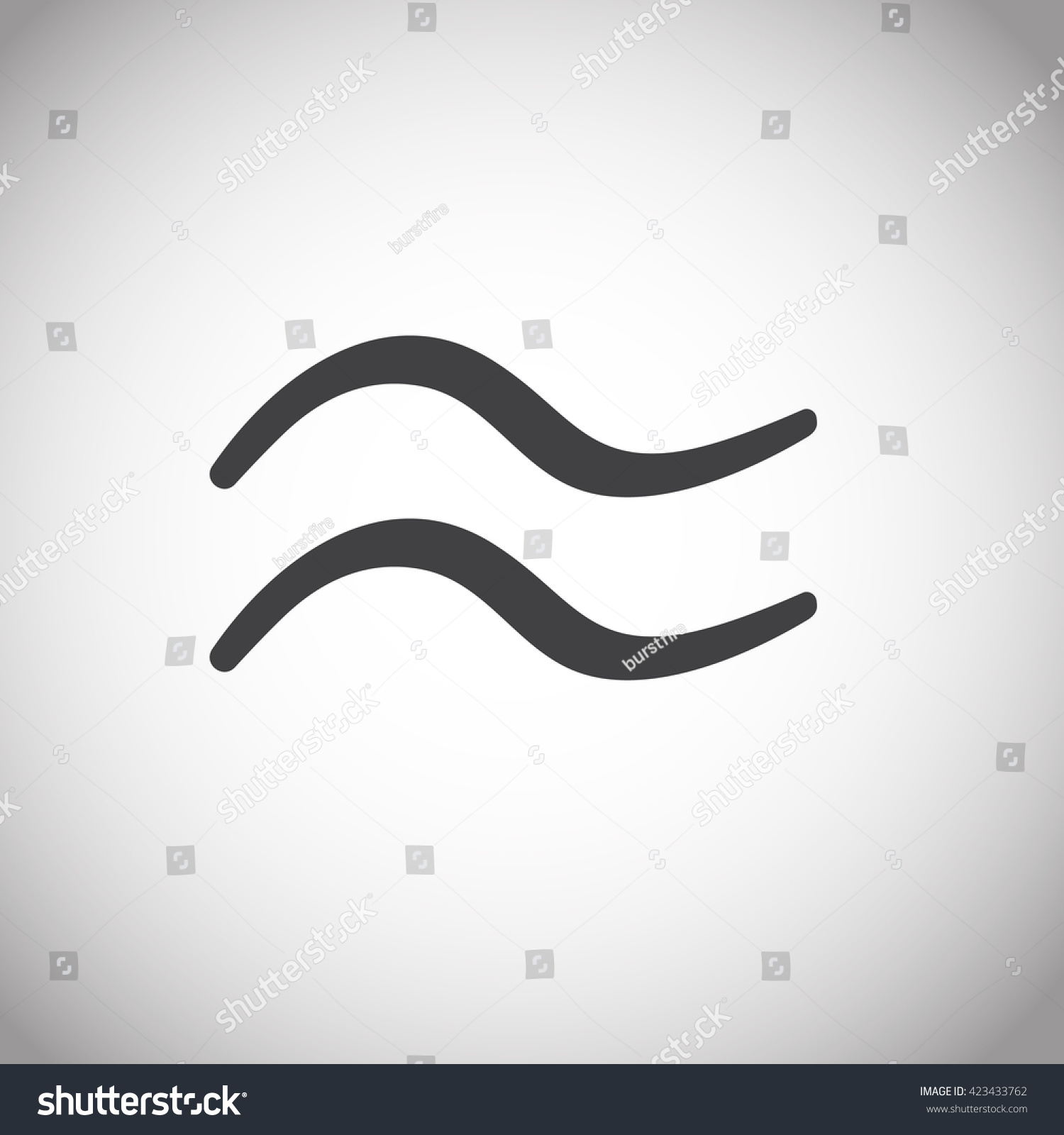 Approximately Equal Symbol Sign Icon Gray Stock Vector Royalty Free